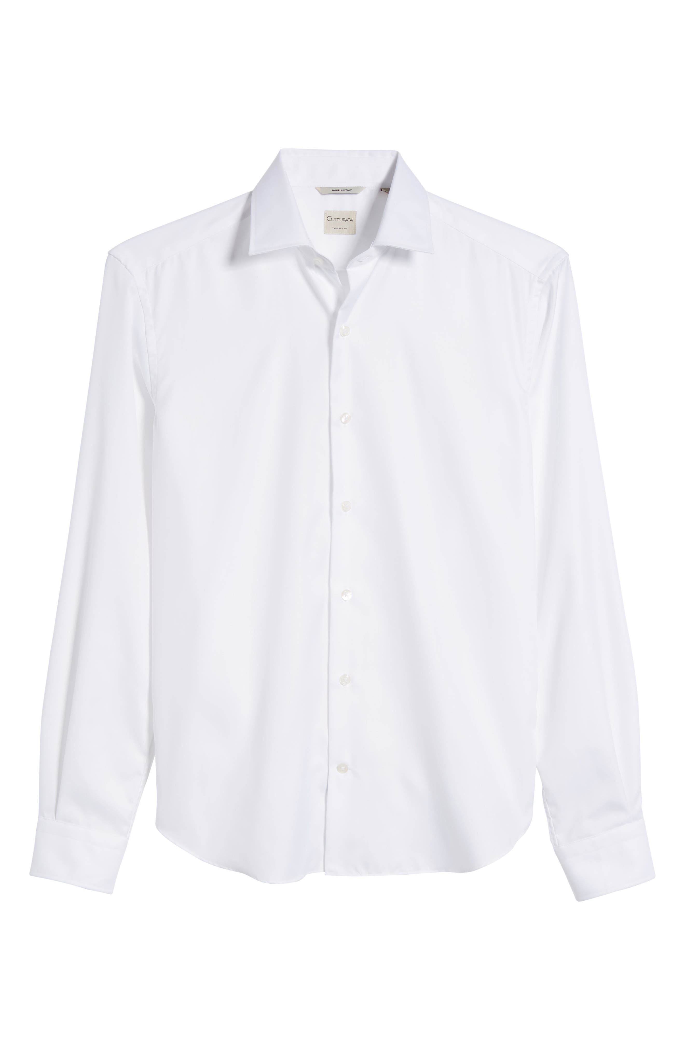 Crease Free Extra Soft Sport Shirt,                             Alternate thumbnail 6, color,                             White