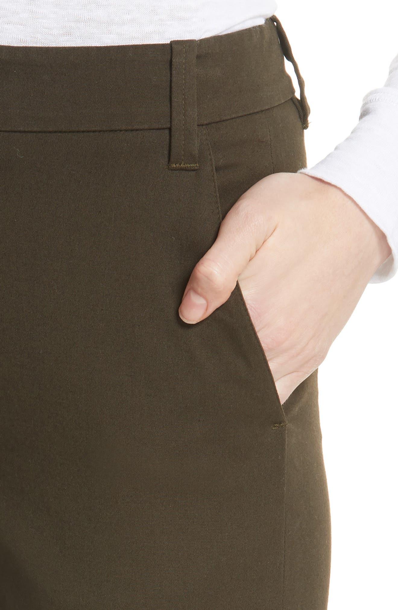 Crop Chino Pants,                             Alternate thumbnail 4, color,                             Pinon Green