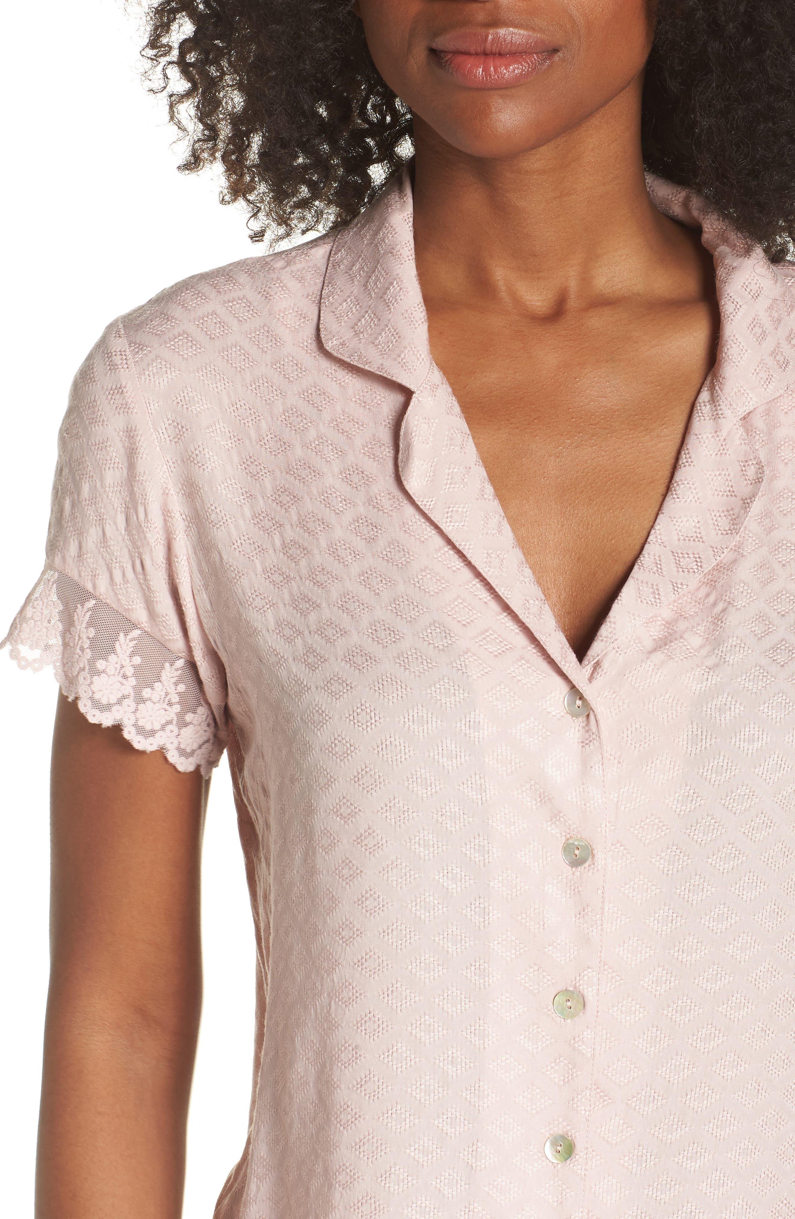 Laurel Short Pajamas,                             Alternate thumbnail 4, color,                             Sepia Rose