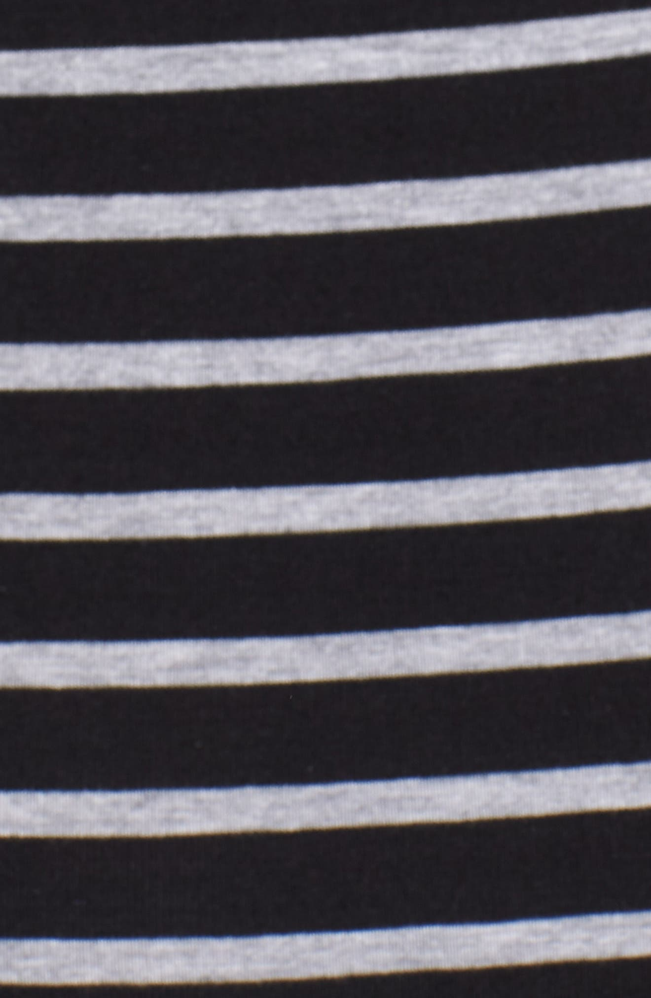 Maternity/Nursing Henley T-Shirt Dress,                             Alternate thumbnail 5, color,                             Black/ Grey