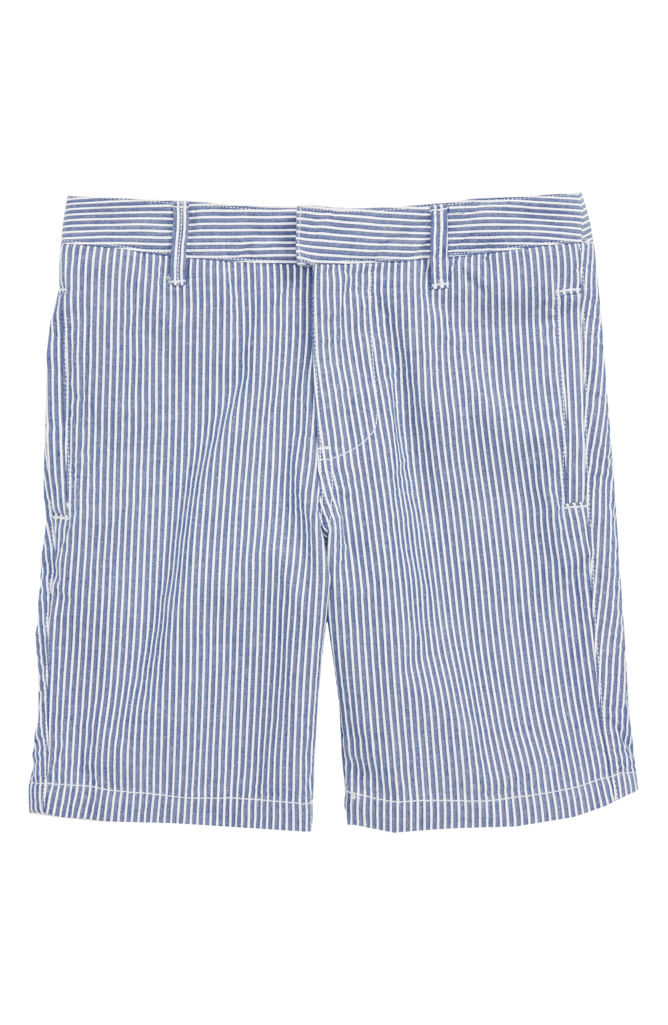 Smart Stripe Shorts,                         Main,                         color, Duke Blue/ Ecru Seersucker