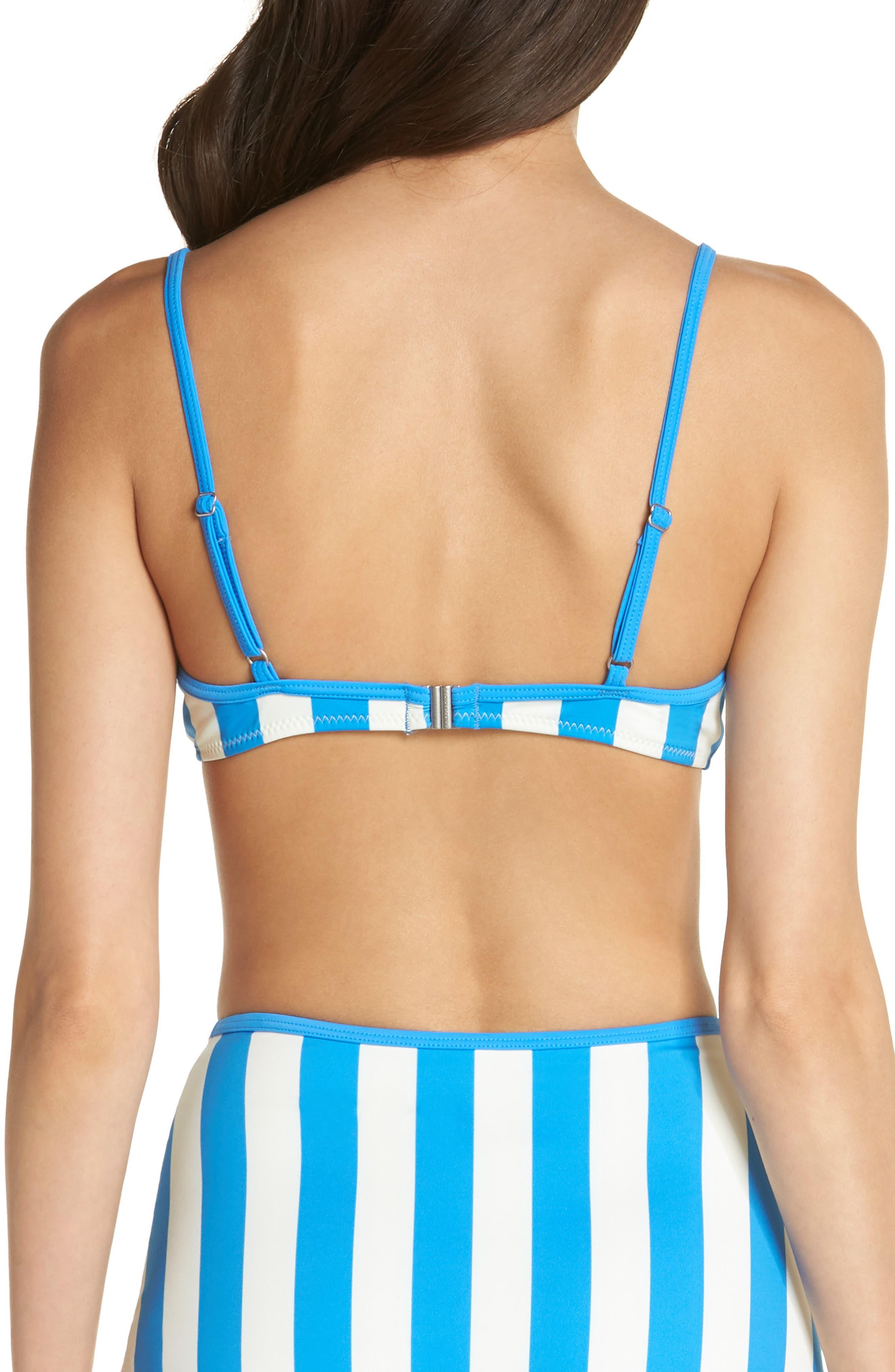 Billabong Brigitte Bikini Top,                             Alternate thumbnail 2, color,                             Sea Stripe