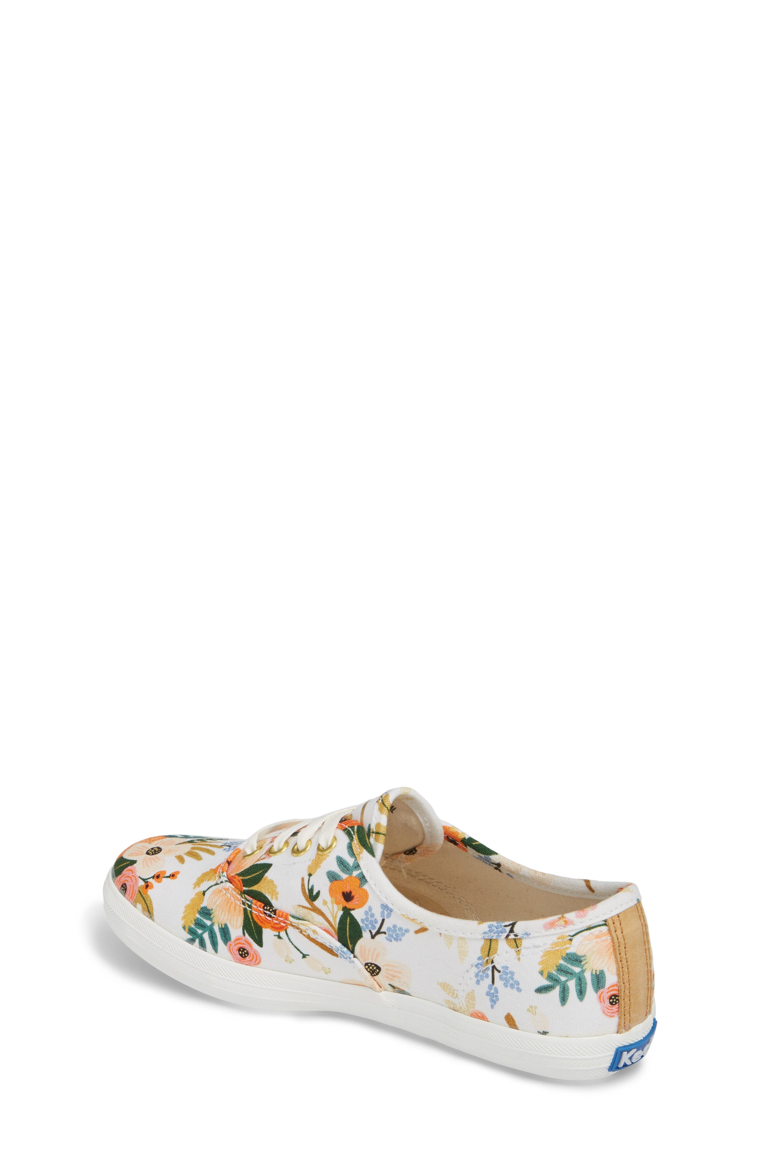 x Rifle Paper Co. Floral Print Champion Sneaker,                             Alternate thumbnail 2, color,                             Lively White