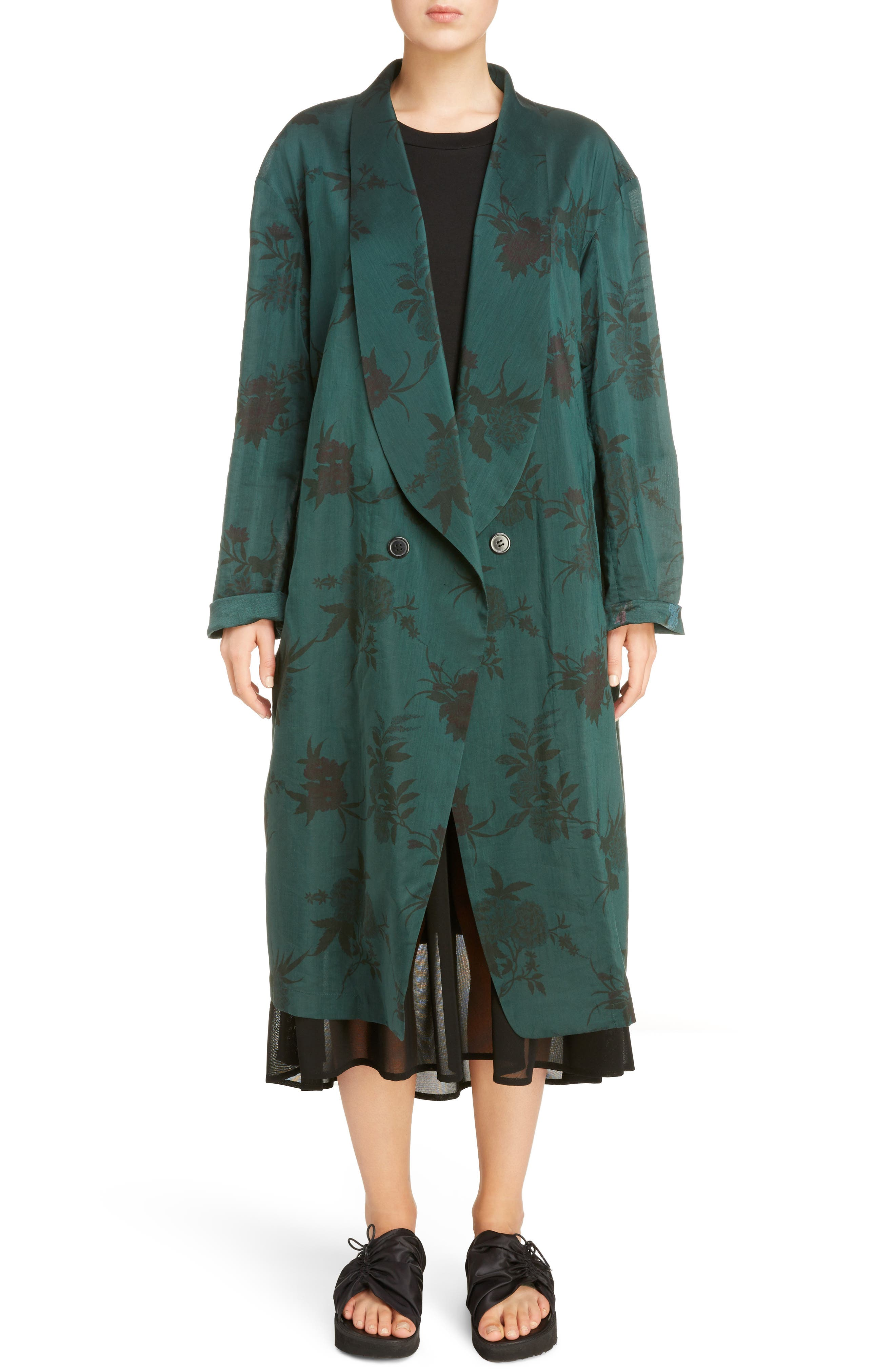 Alternate Image 1 Selected - Y's by Yohji Yamamoto Floral Coat