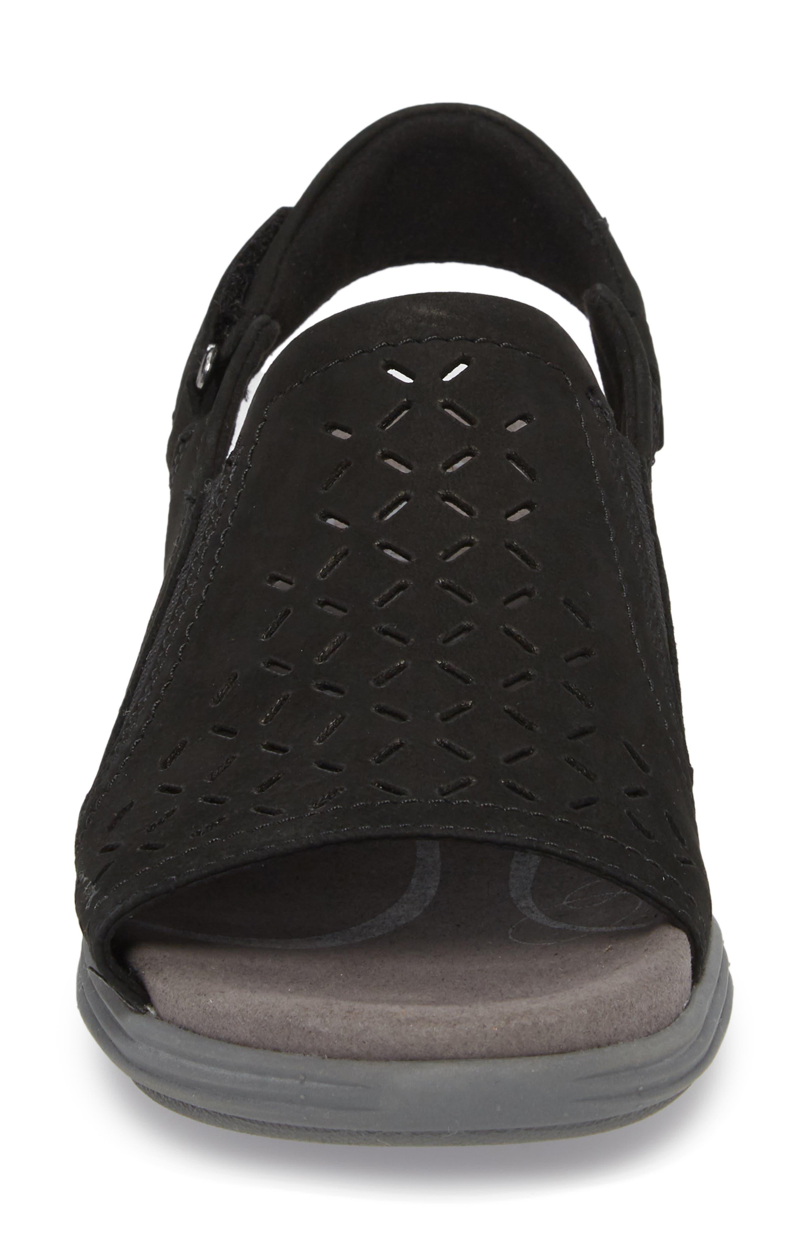 Beaumont Slingback Sandal,                             Alternate thumbnail 4, color,                             Black Nubuck Leather