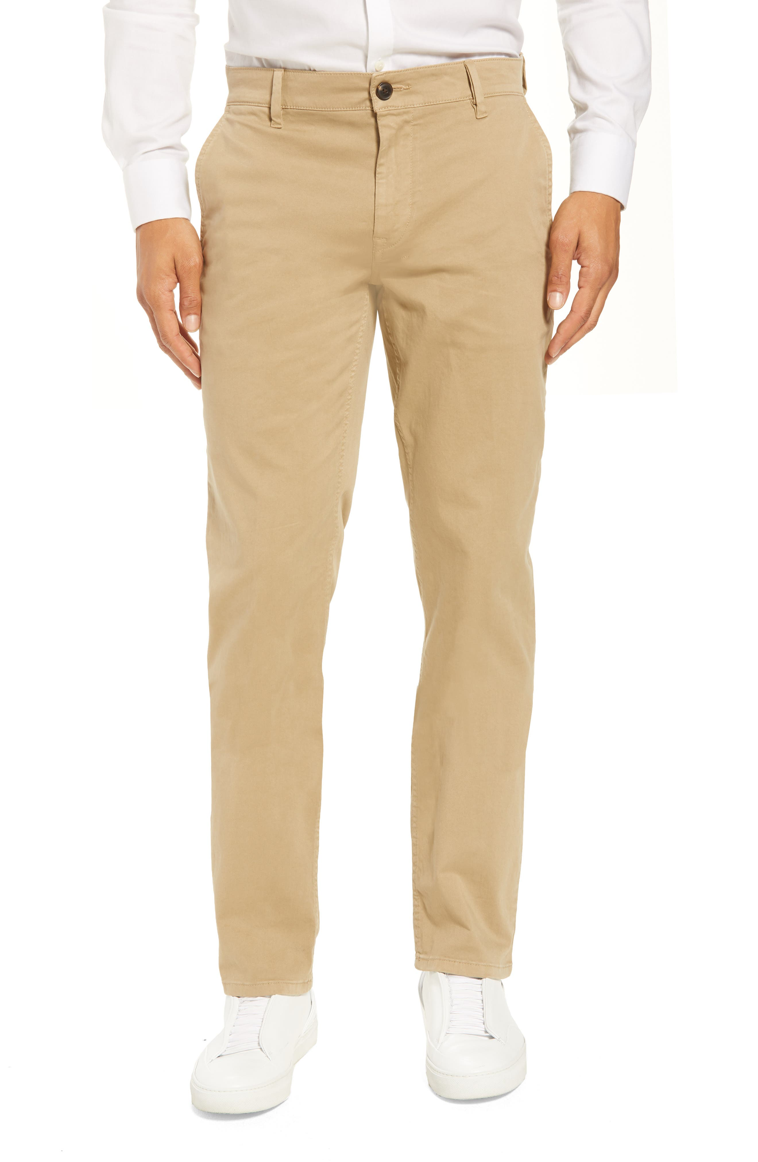 Stretch Chino Pants,                         Main,                         color, Brown