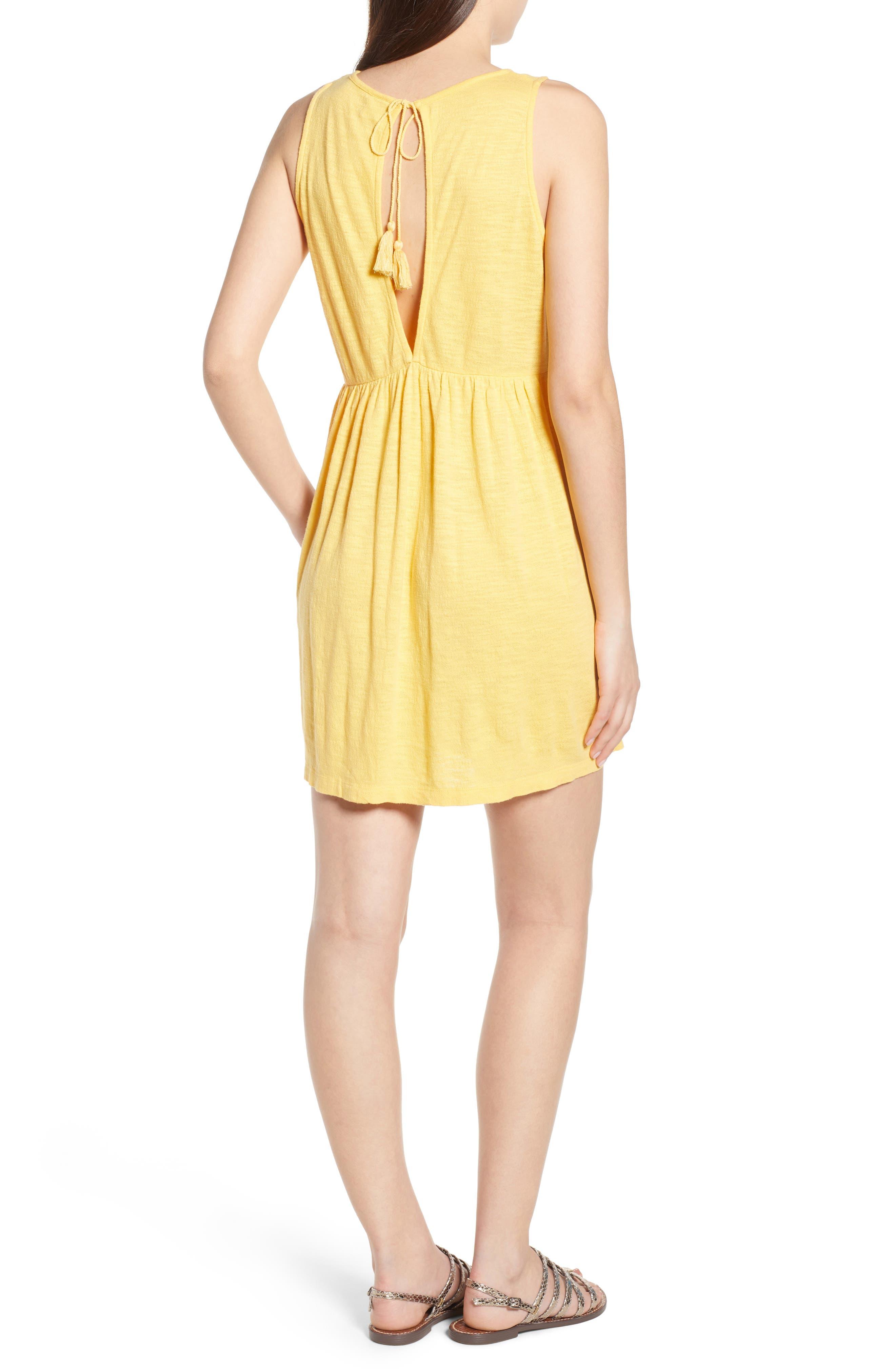Tucson Cotton Dress,                             Alternate thumbnail 2, color,                             Buff Yellow