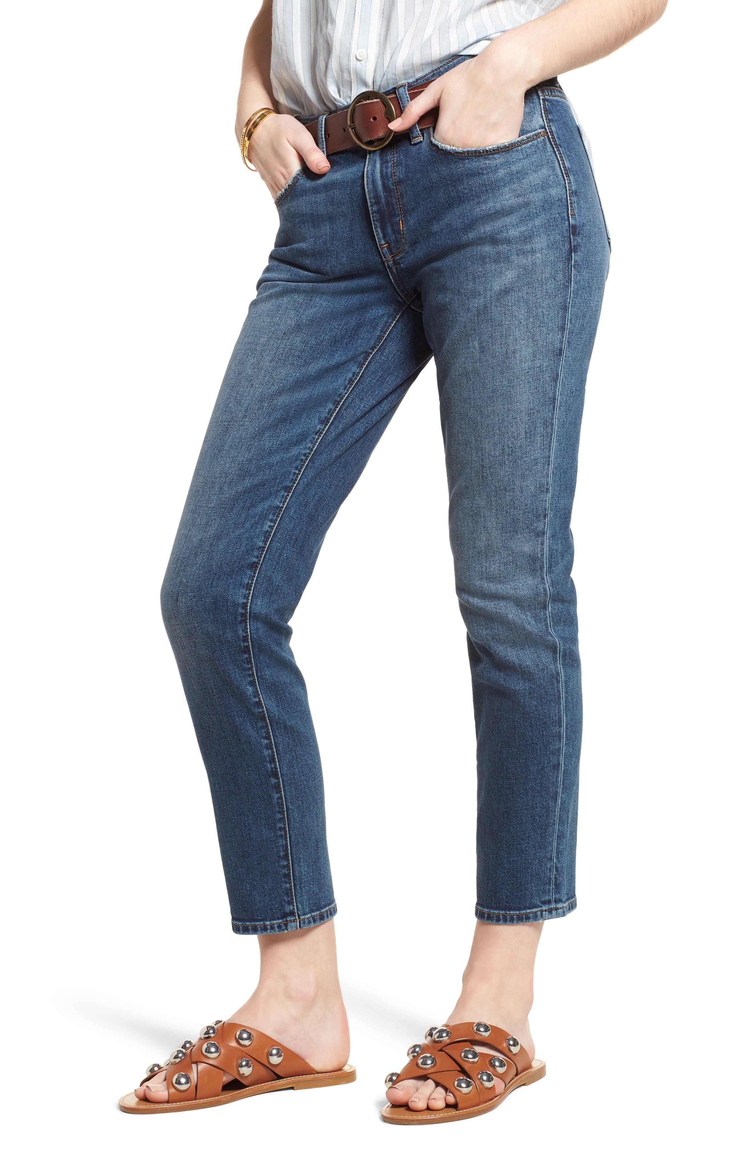 Alternate Image 1 Selected - Treasure & Bond Grant Ankle Boyfriend Jeans (Gravel Dusk Vintage)