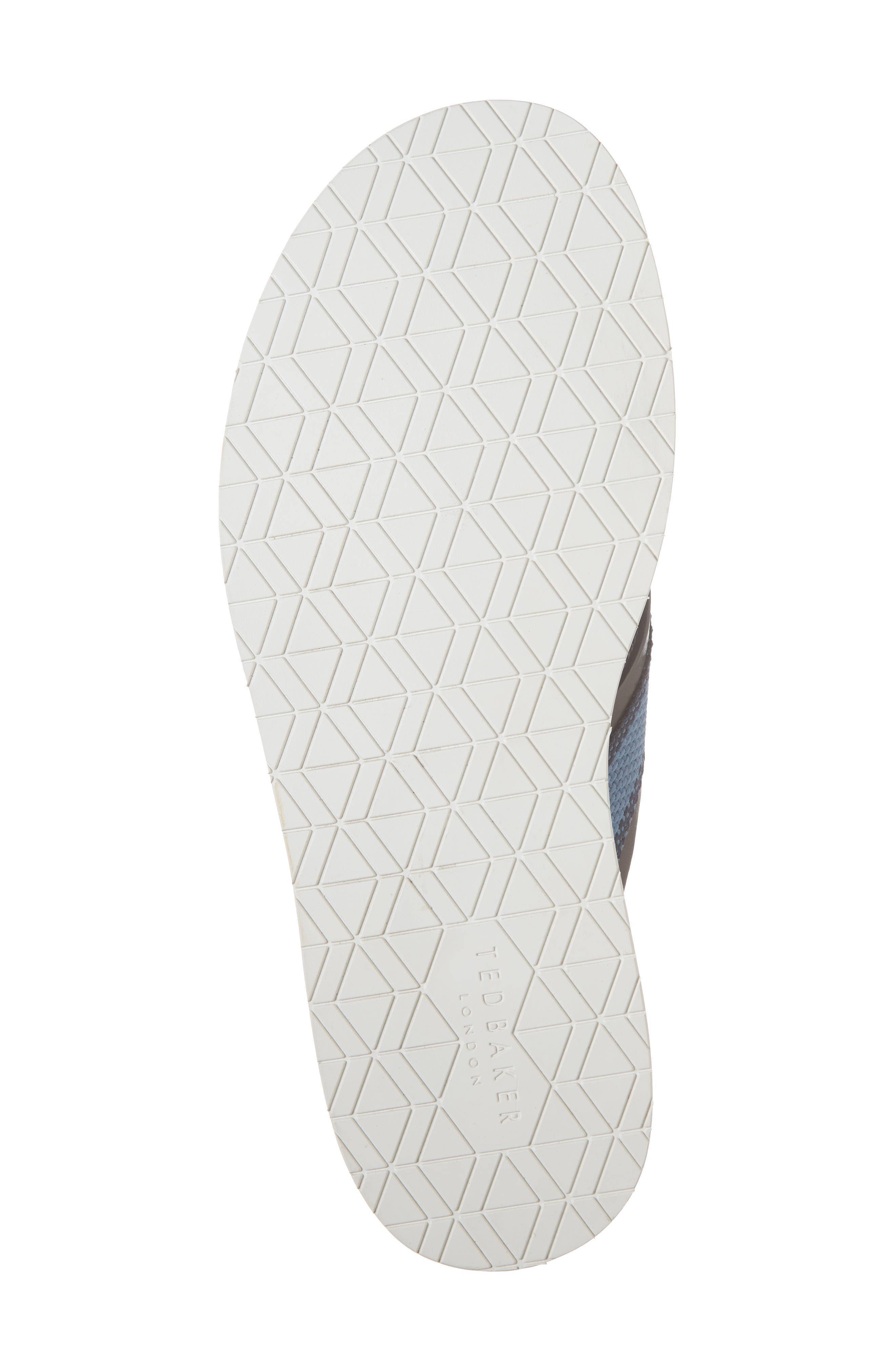 Knowlun Flip Flop,                             Alternate thumbnail 6, color,                             Brown Leather/Textile