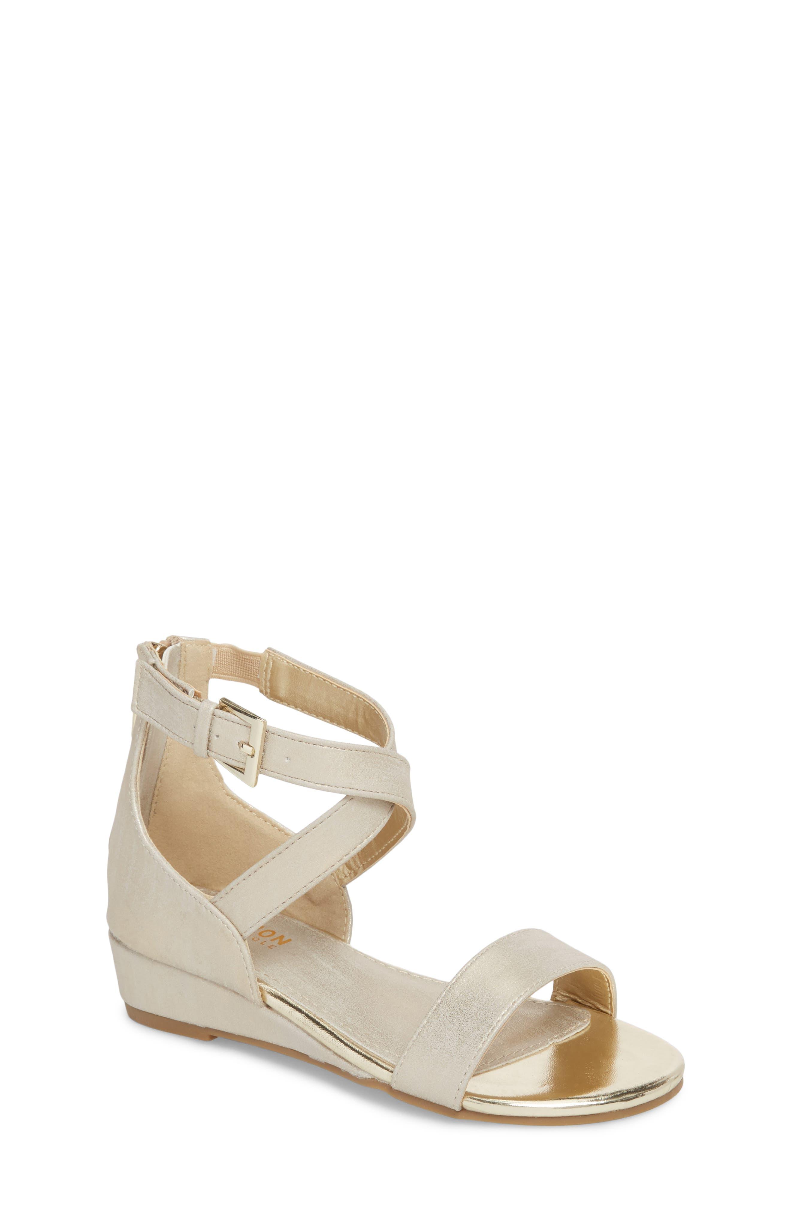 Reaction Kenneth Cole Mode Metallic Sandal,                         Main,                         color, Gold