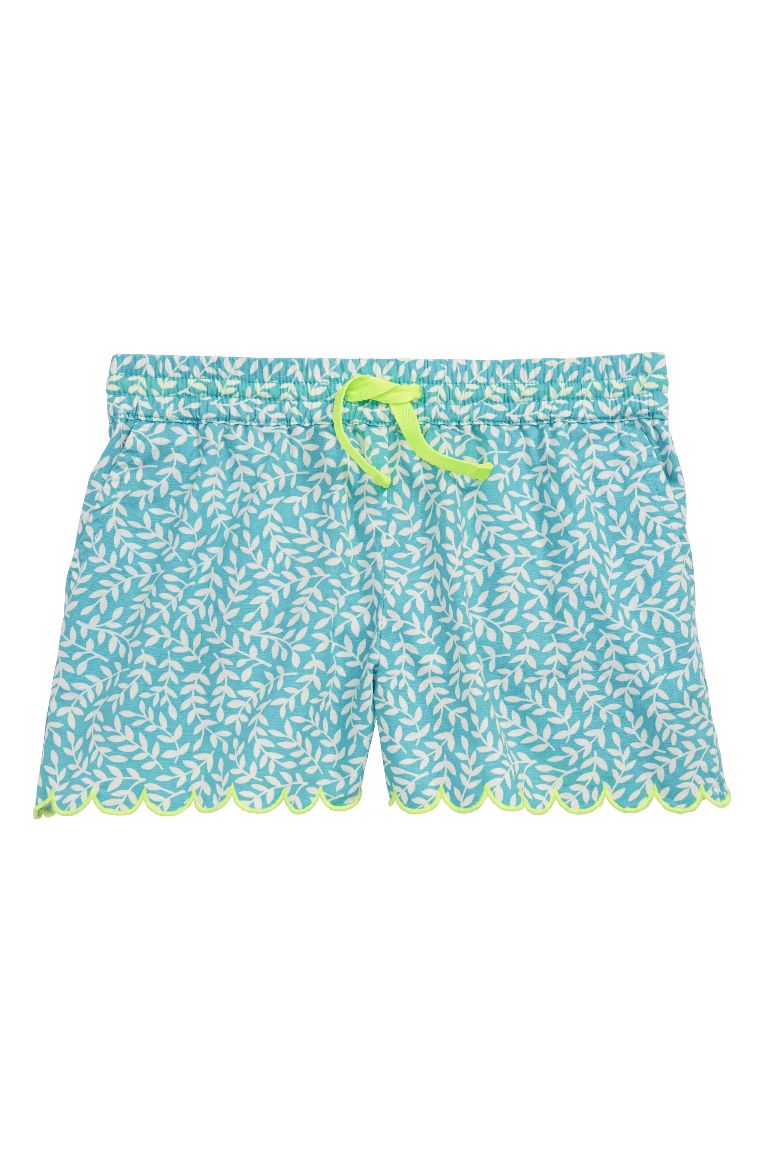 Print Woven Shorts,                         Main,                         color, Camper Blue Vine Blu