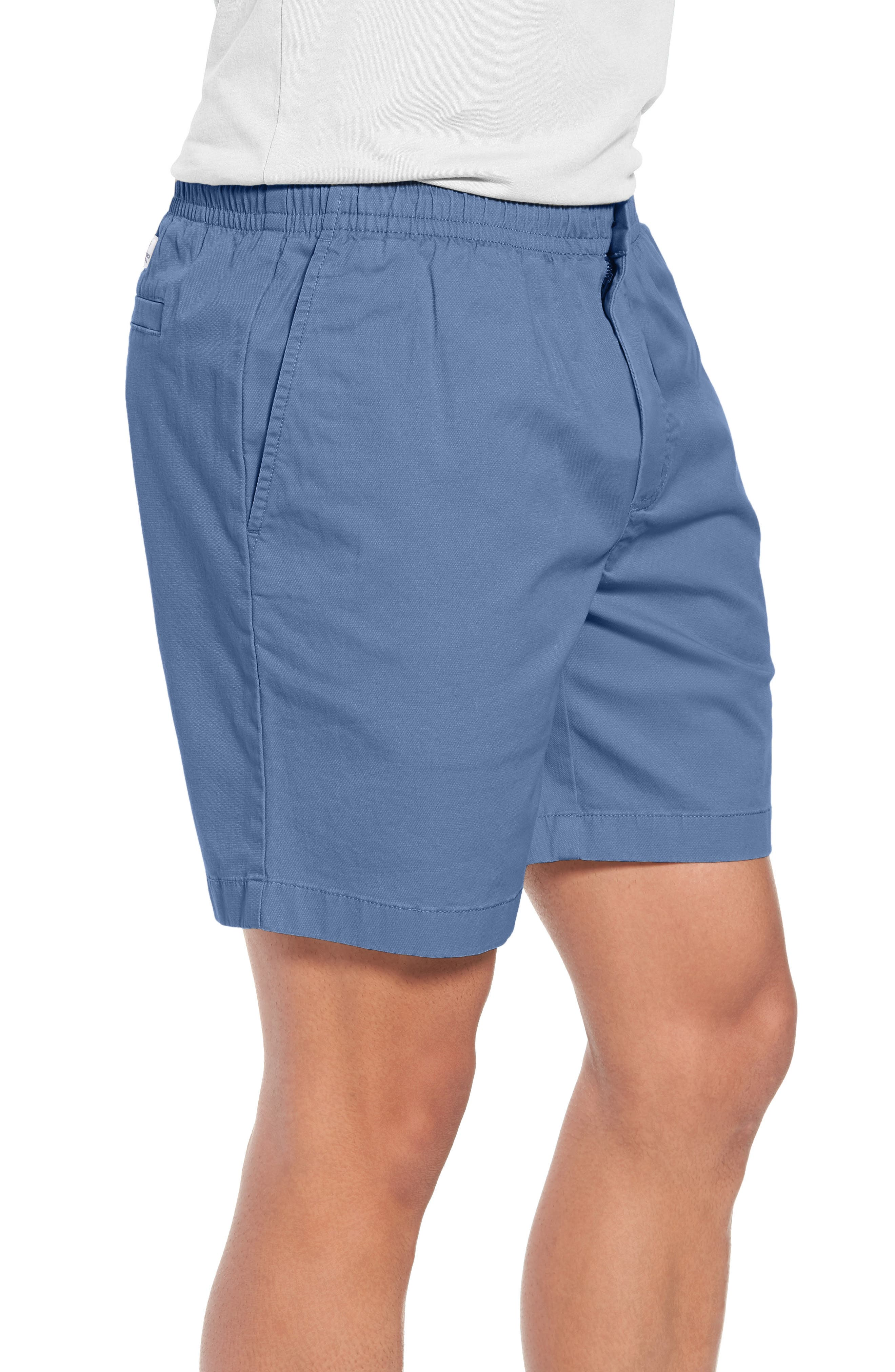 Jetty Stretch Cotton Shorts,                             Alternate thumbnail 3, color,                             Moonshine