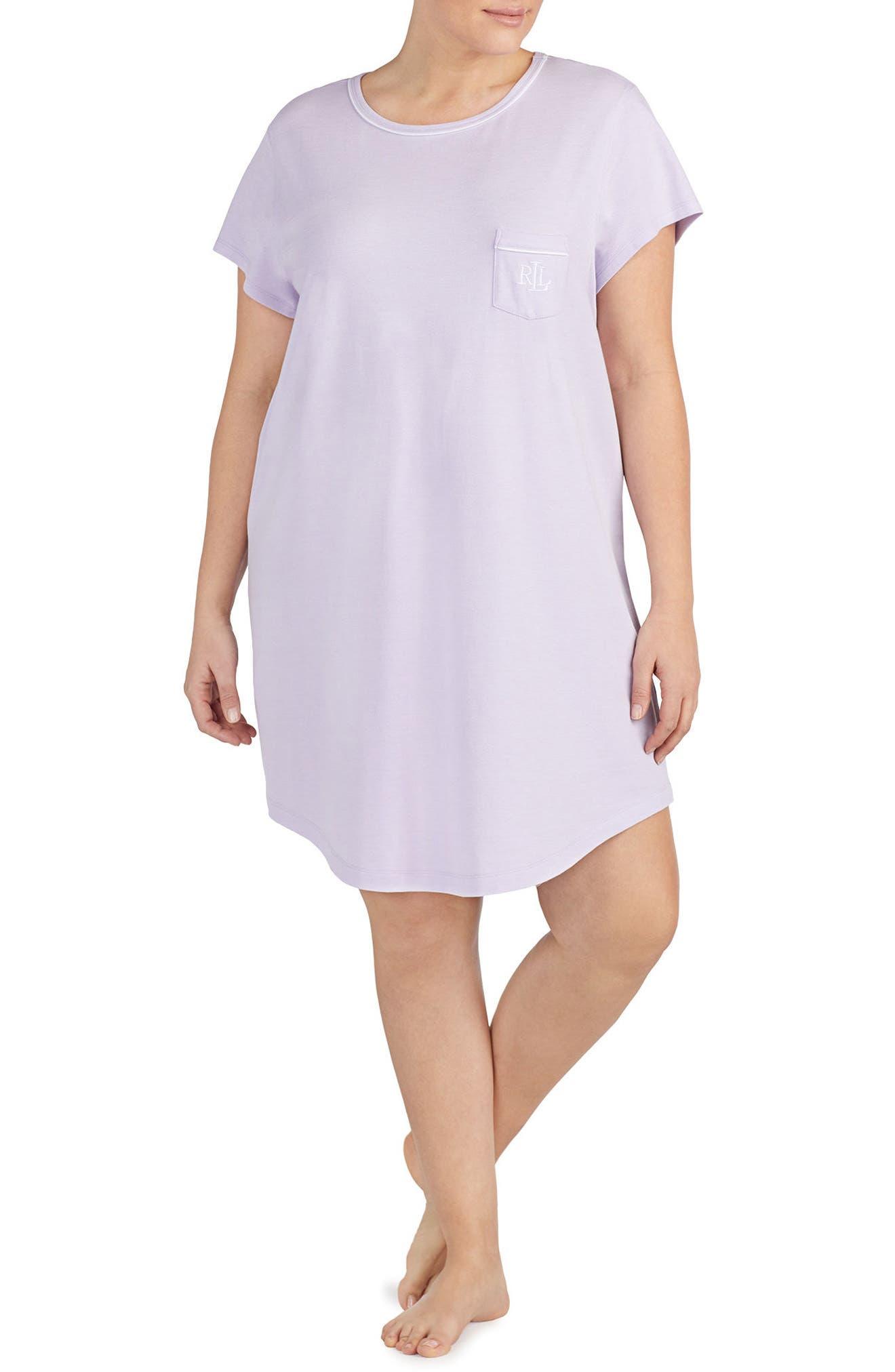 Alternate Image 1 Selected - Lauren Ralph Lauren Nightgown (Plus Size)