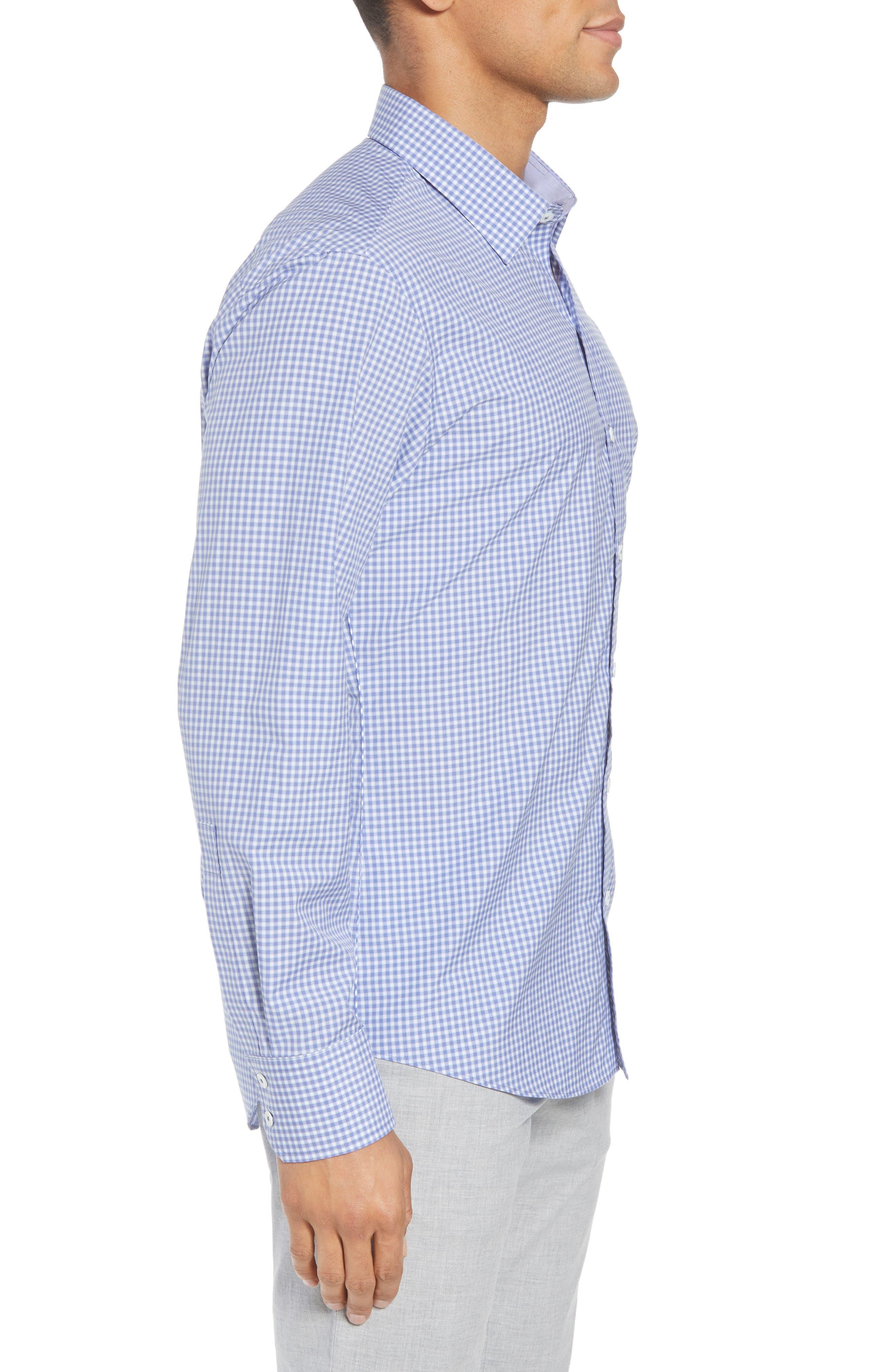Winston Regular Fit Sport Shirt,                             Alternate thumbnail 3, color,                             Ocean