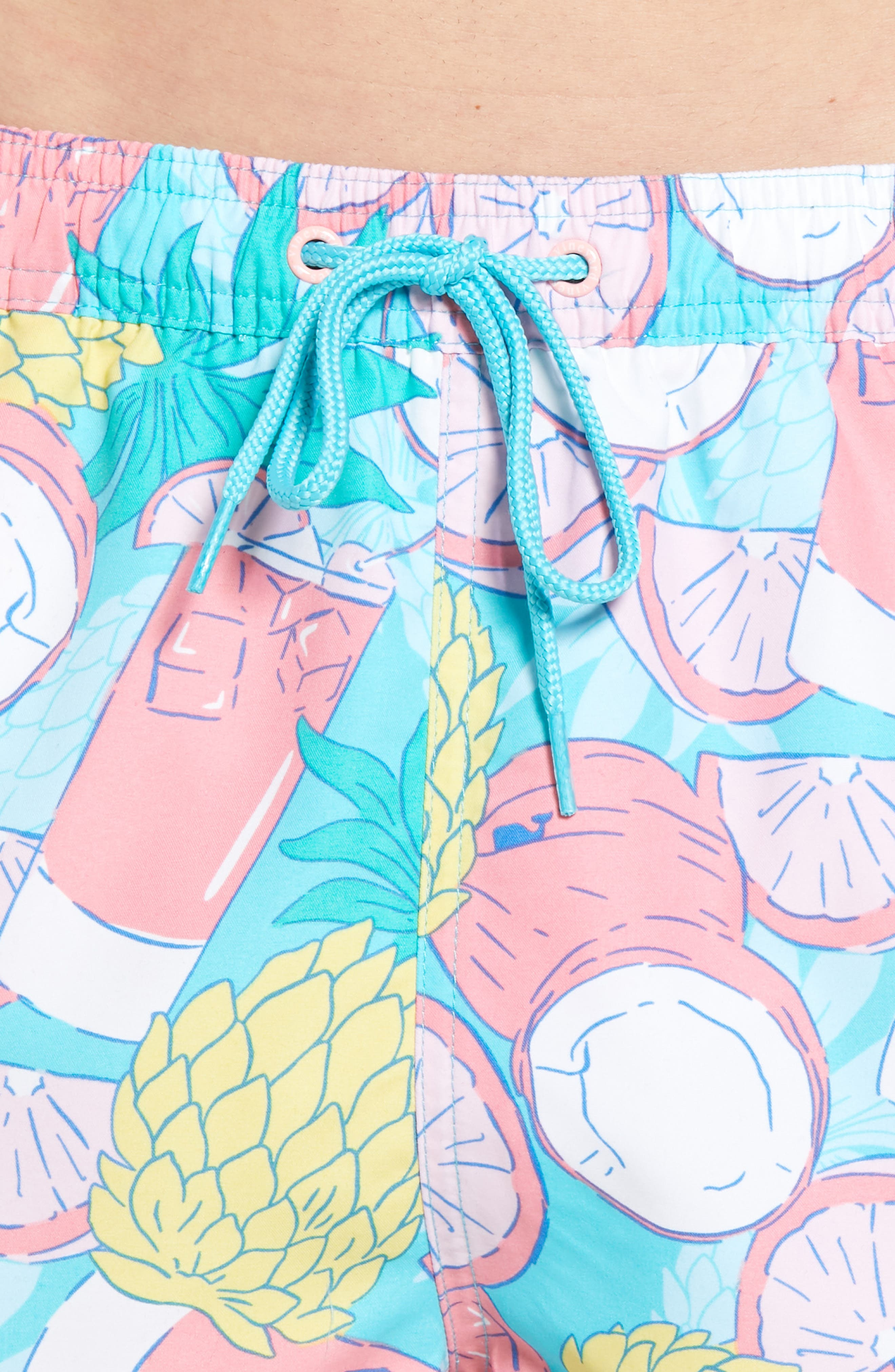 Chappy Pieced Bahama Mama Swim Trunks,                             Alternate thumbnail 4, color,                             Turquoise