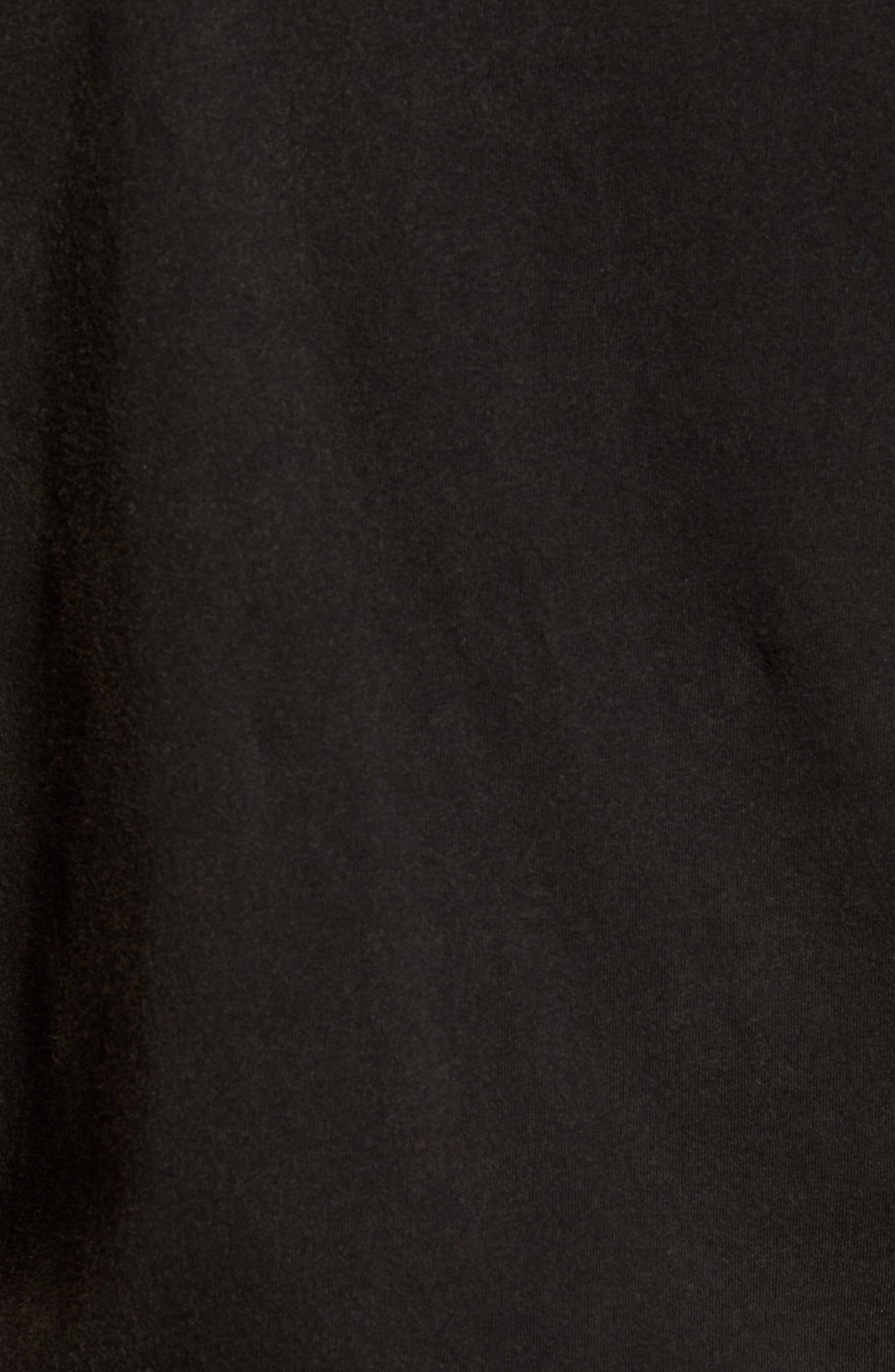Skull Crewneck T-Shirt,                             Alternate thumbnail 5, color,                             Black