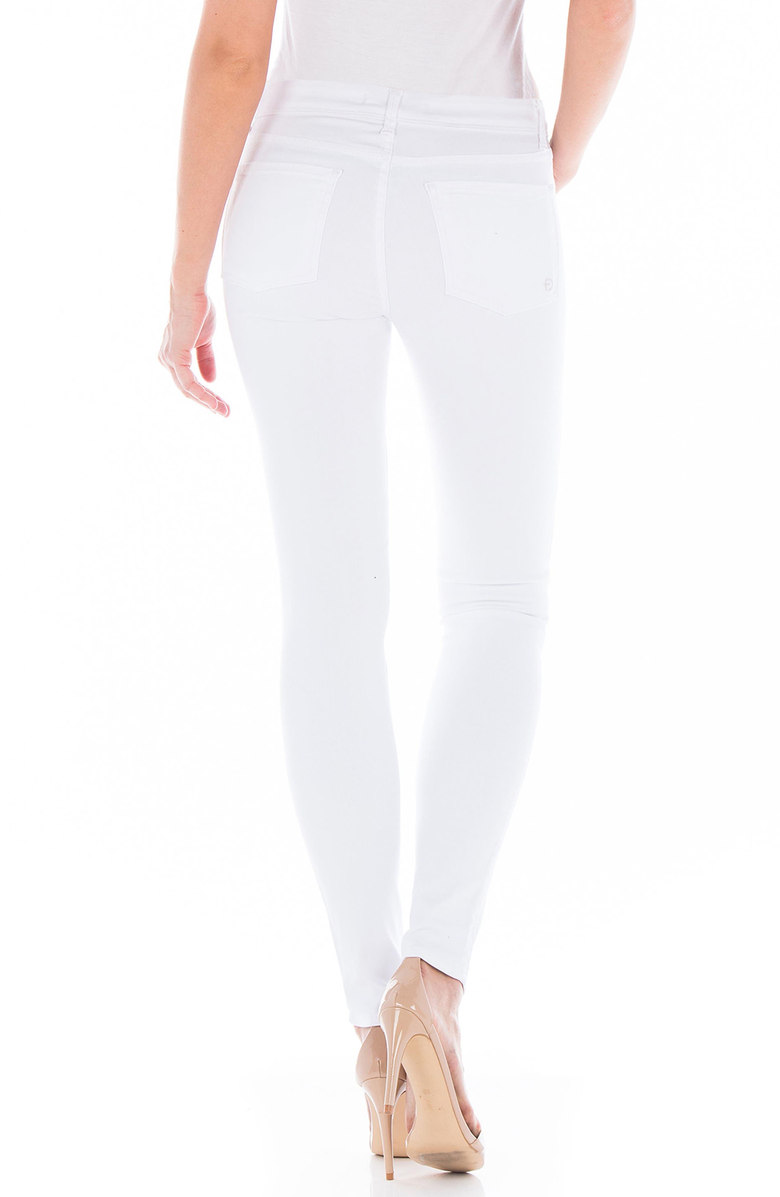 Belvedere Skinny Jeans,                             Alternate thumbnail 2, color,                             White