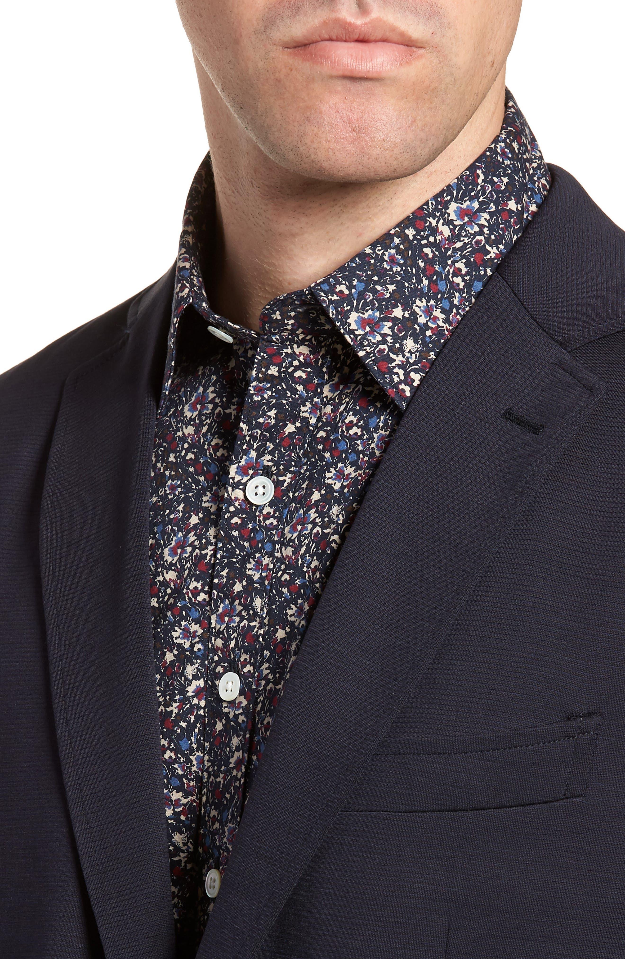 Cardrona Slim Fit Wool Blend Blazer,                             Alternate thumbnail 4, color,                             Navy