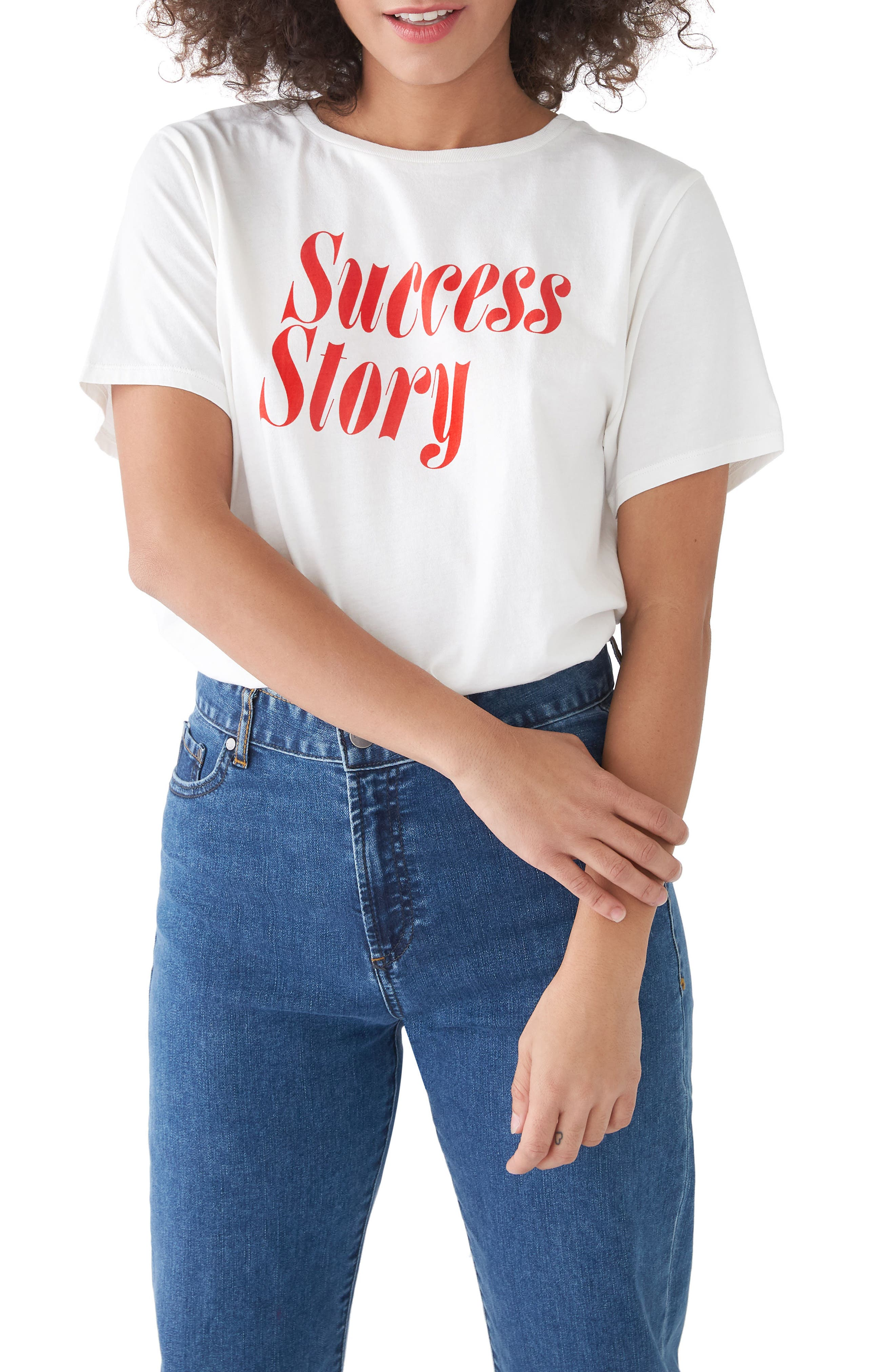 Success Story Classic Tee,                             Main thumbnail 1, color,                             Ivory