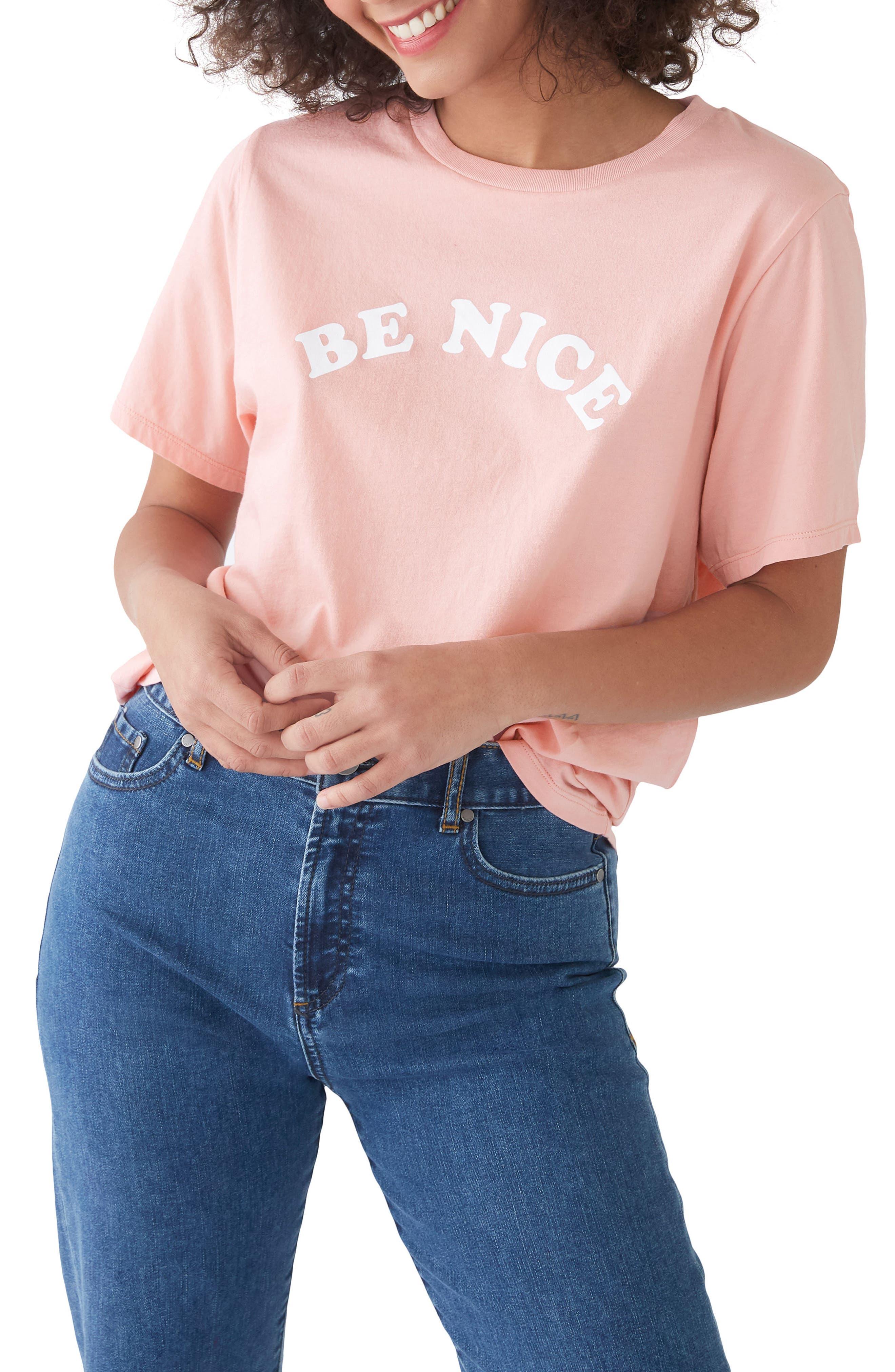 Be Nice Classic Tee,                             Main thumbnail 1, color,                             Cameo Pink