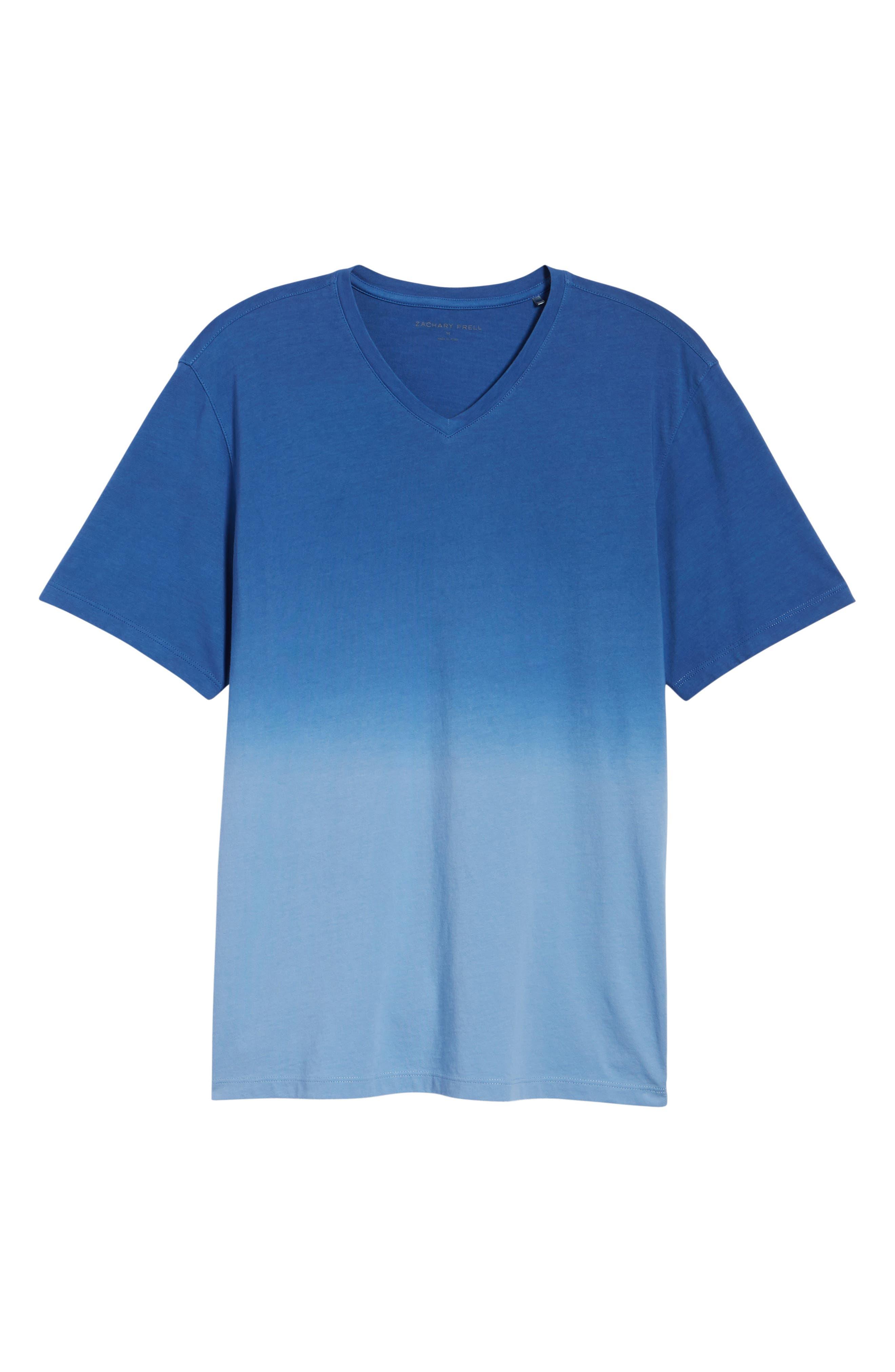 Canton Dip Dye V-Neck T-Shirt,                             Alternate thumbnail 6, color,                             Blue