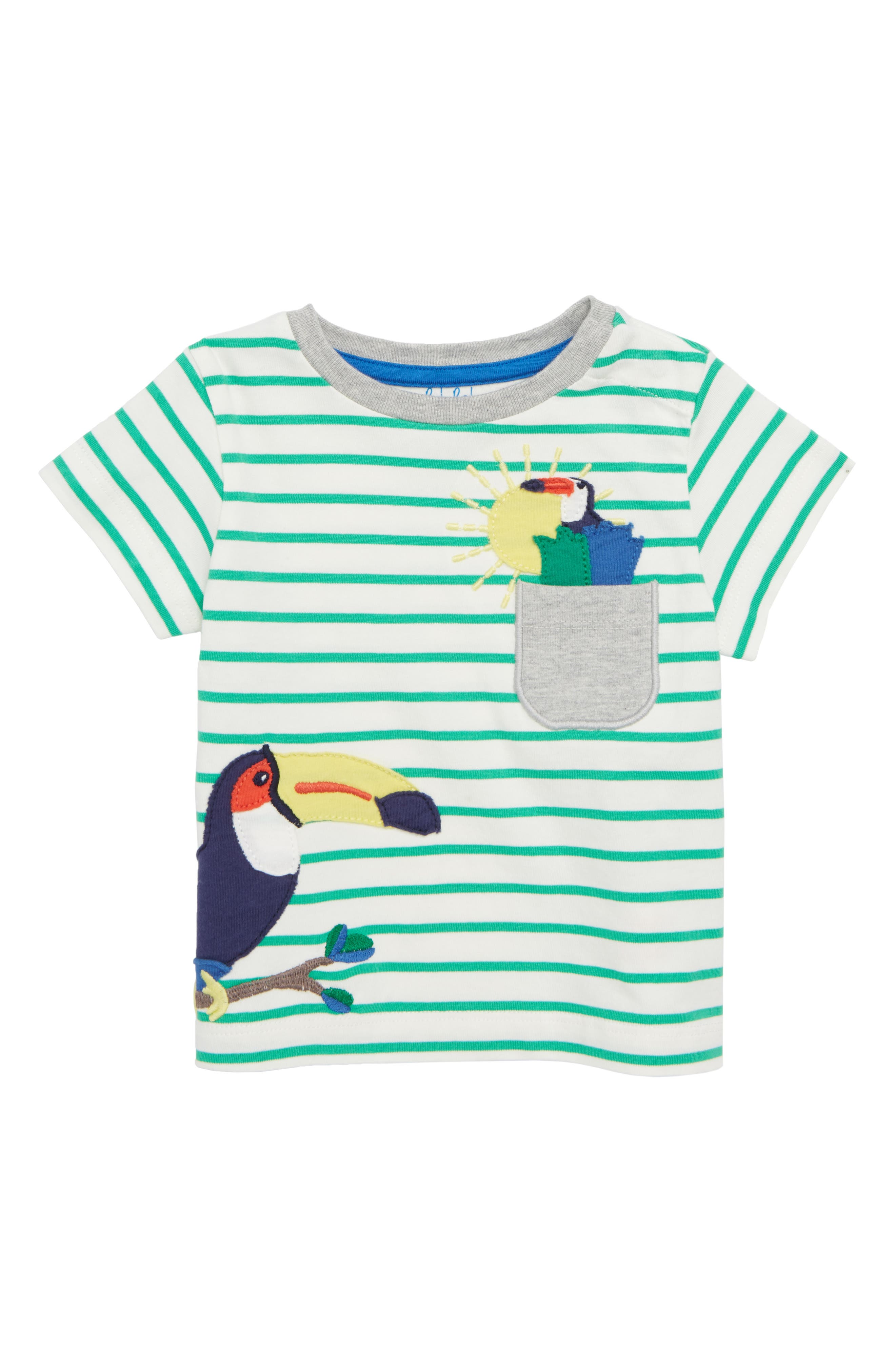Mini Boden Pocket Friends T-Shirt (Baby Boys)
