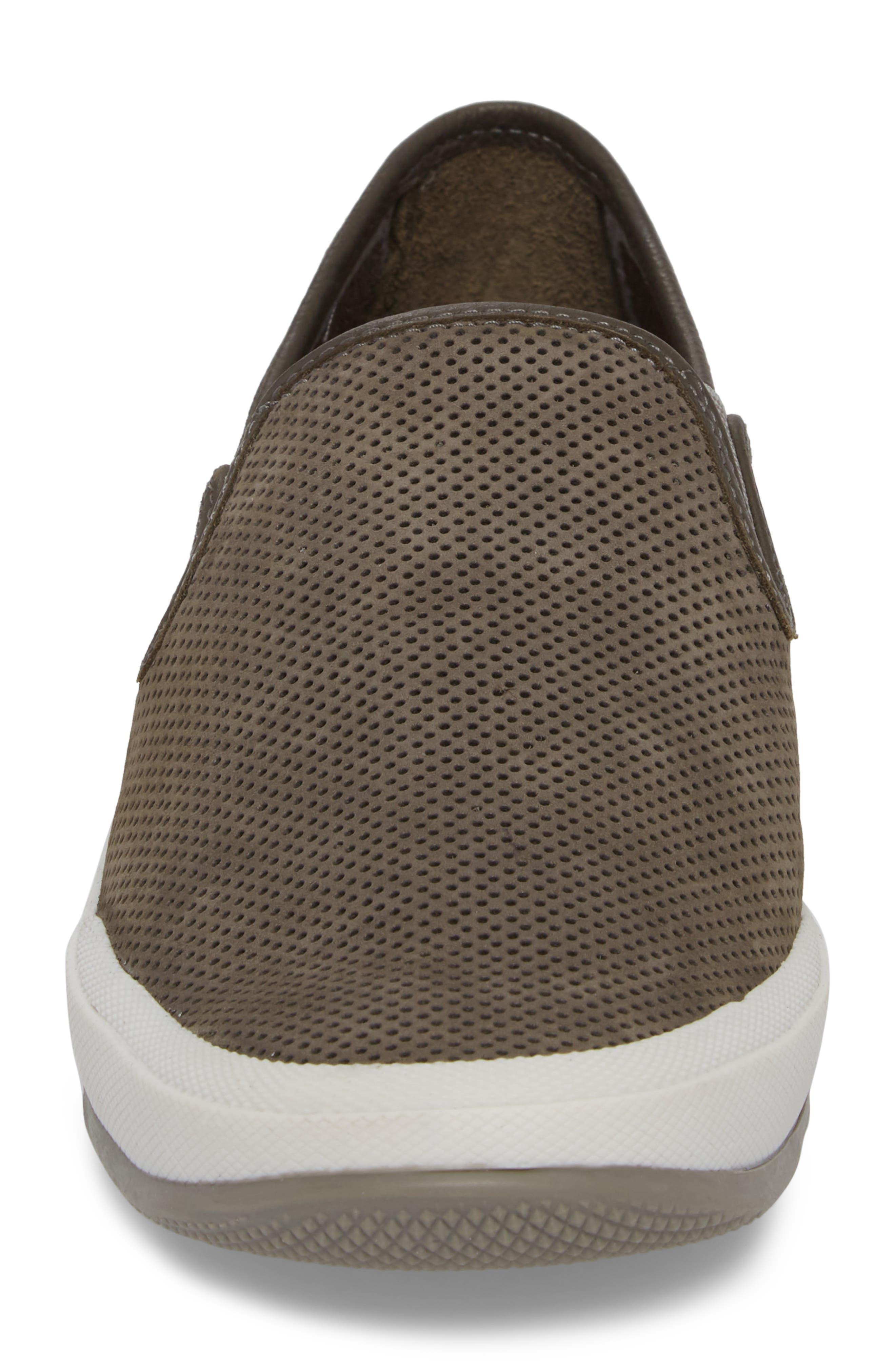 'Mullen' Slip-On,                             Alternate thumbnail 4, color,                             Grey Perfed Nubuck