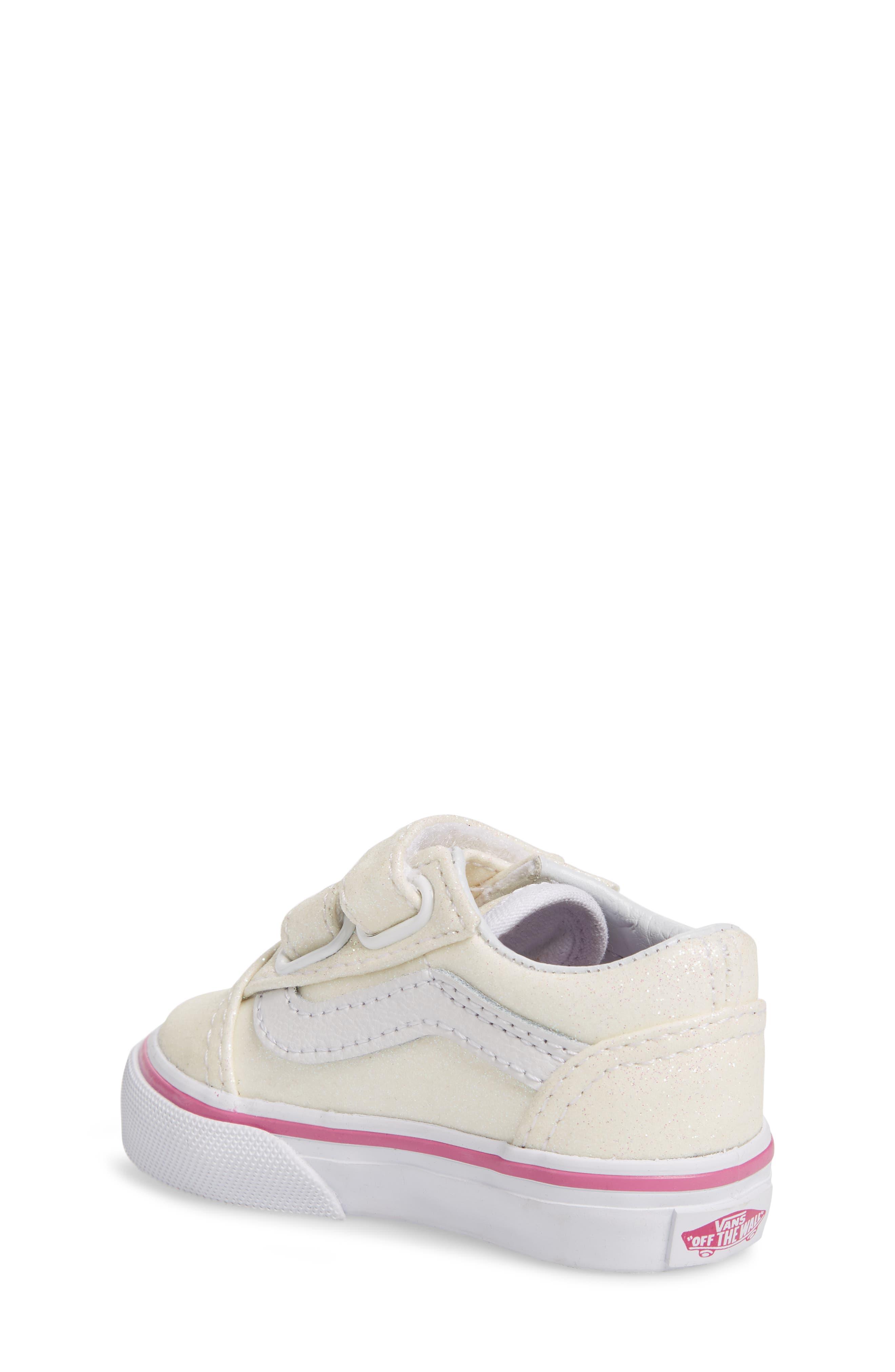 Old Skool V Glitter Sneaker,                             Alternate thumbnail 2, color,                             Rainbow White Glitter