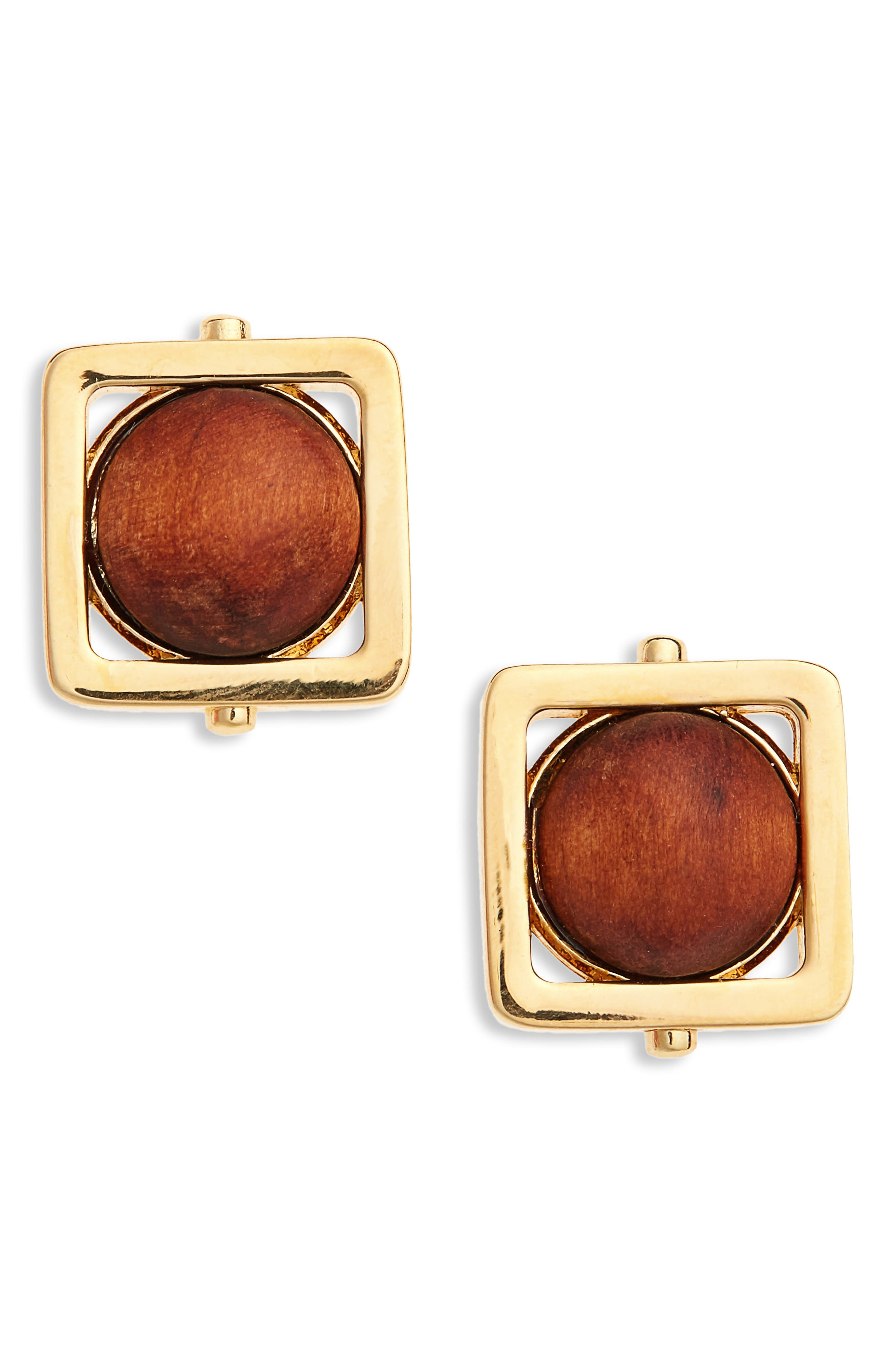 Caged Studs,                             Main thumbnail 1, color,                             Wood