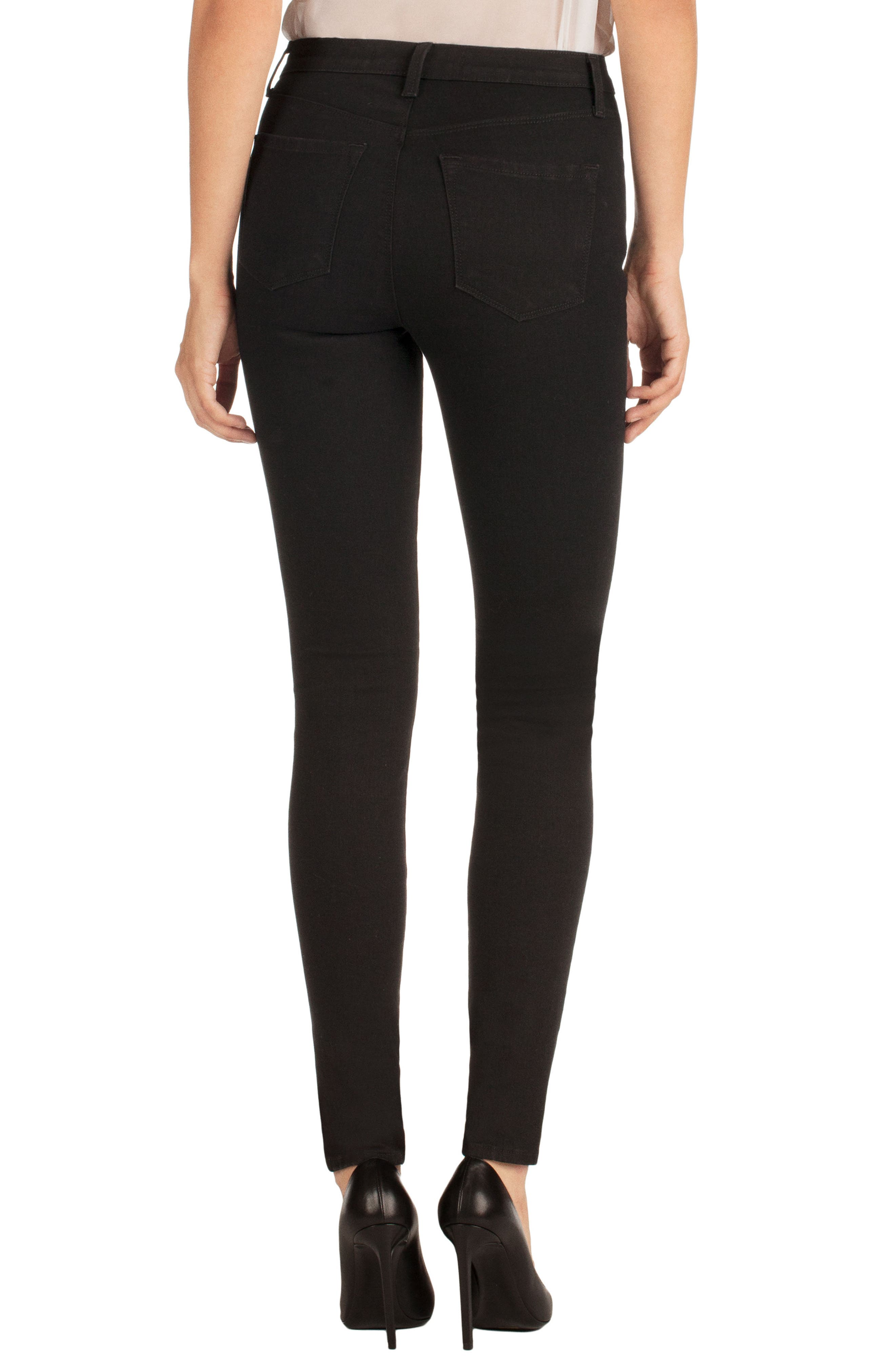 Alternate Image 2  - J Brand Maria Ripped High Waist Skinny Jeans (Blk Heart)