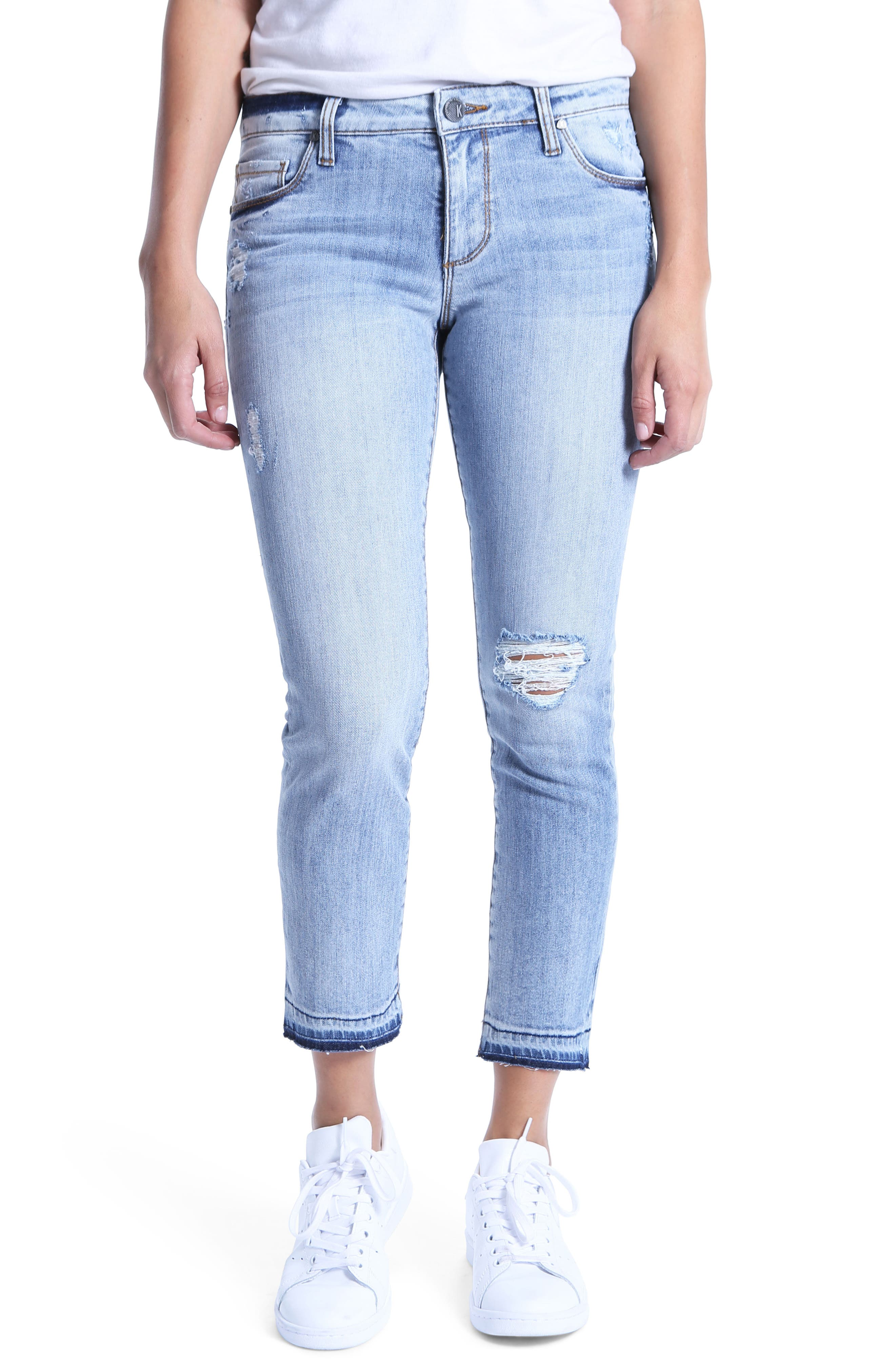 Reese Ripped Ankle Jeans,                             Main thumbnail 1, color,                             Announce