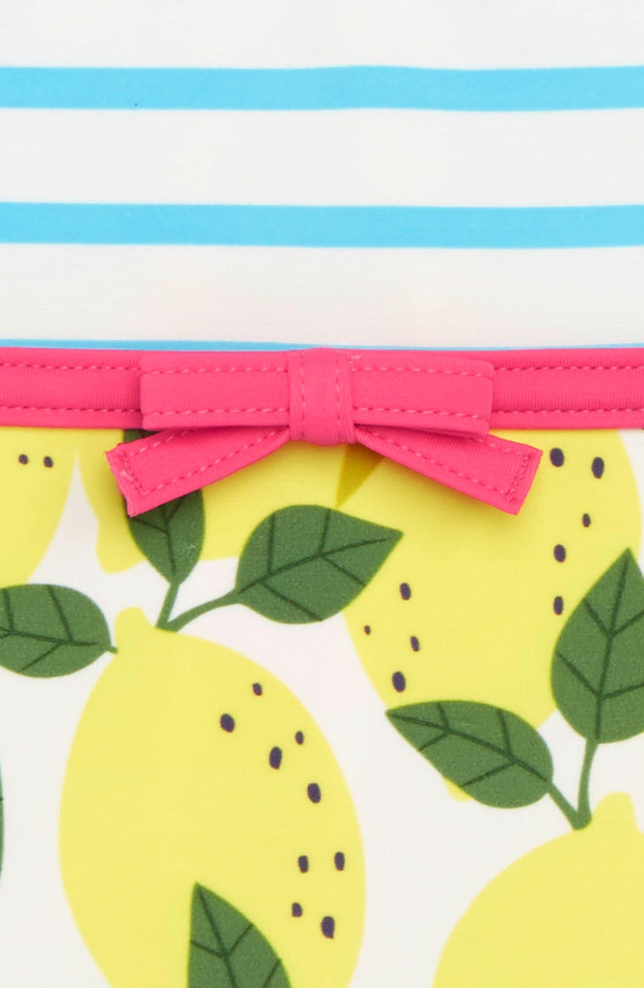Hotchpotch One-Piece Swimsuit,                             Alternate thumbnail 2, color,                             Ivory Lemon Tree Yel
