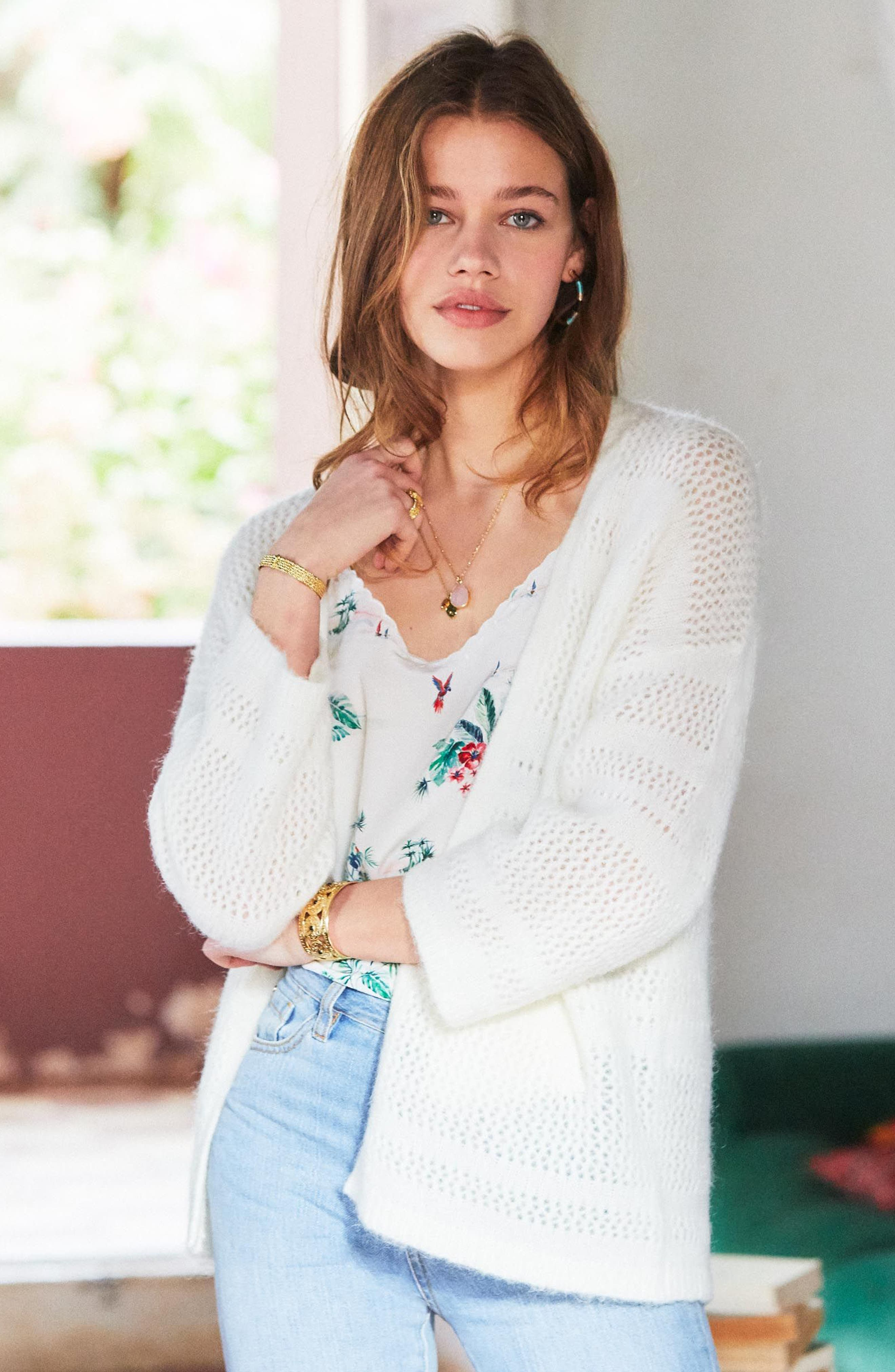 Firmin Cardigan,                             Alternate thumbnail 2, color,                             Off White
