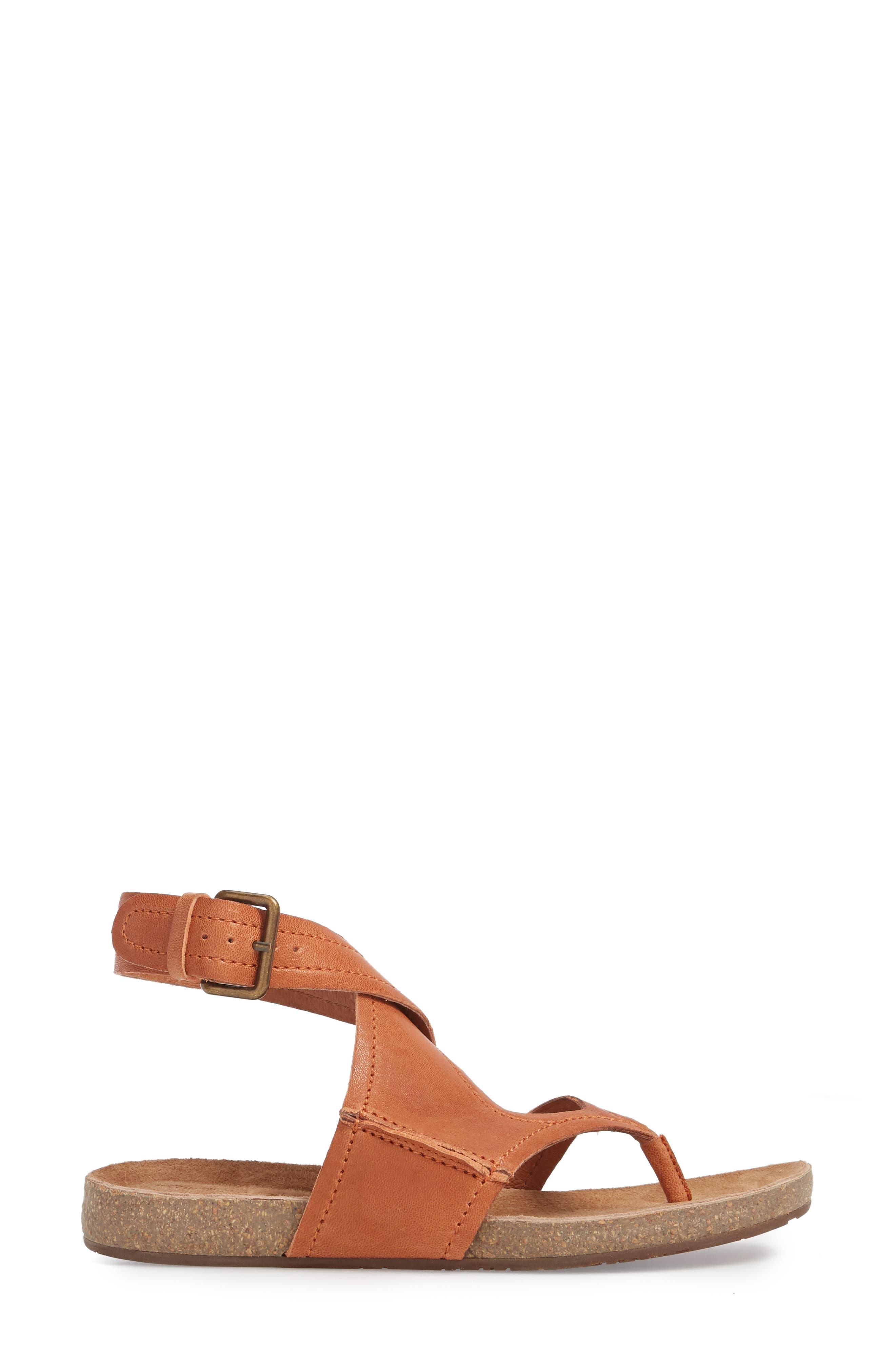Yagger Sandal,                             Alternate thumbnail 3, color,                             Camel Leather