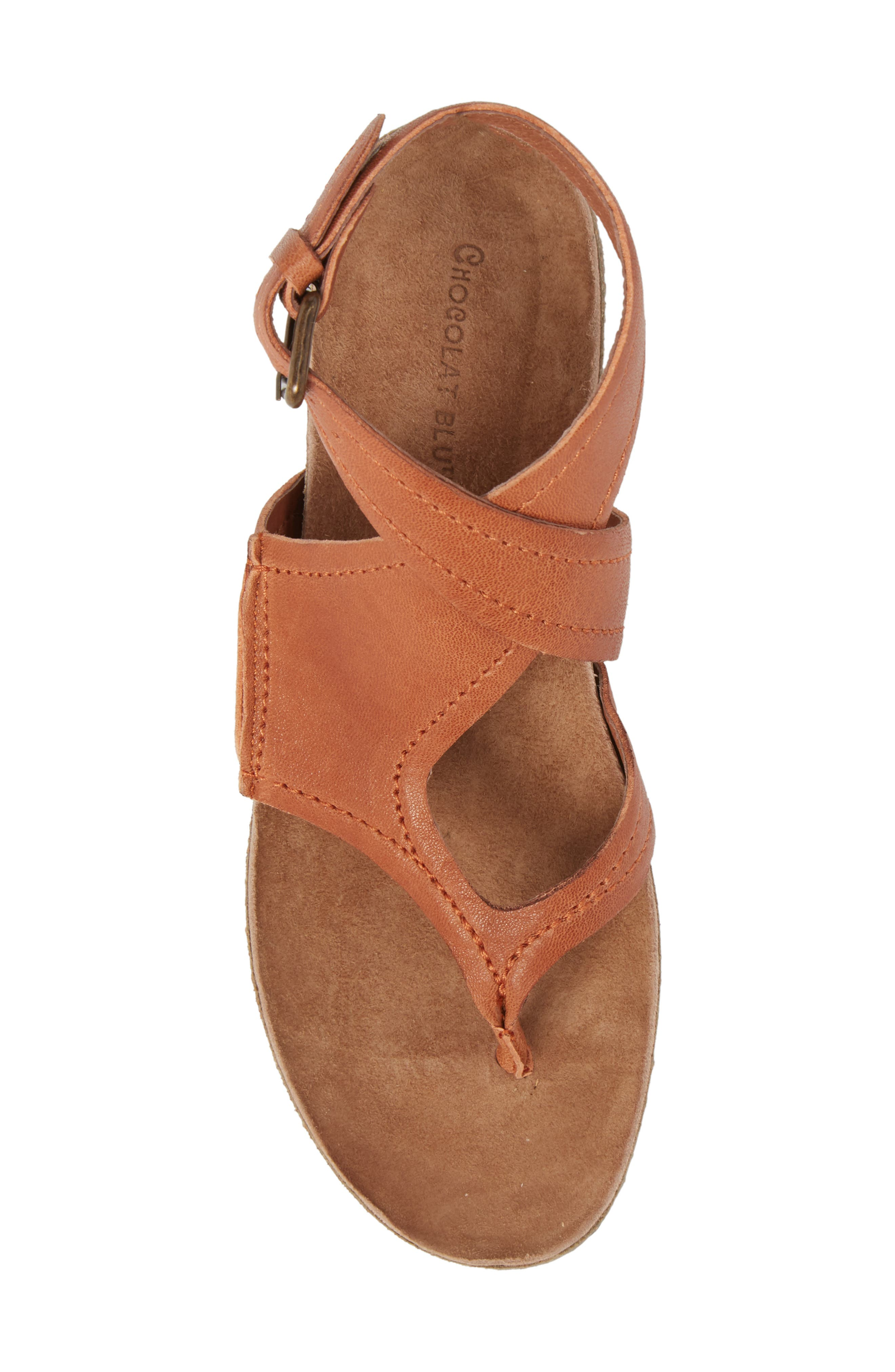Yagger Sandal,                             Alternate thumbnail 5, color,                             Camel Leather