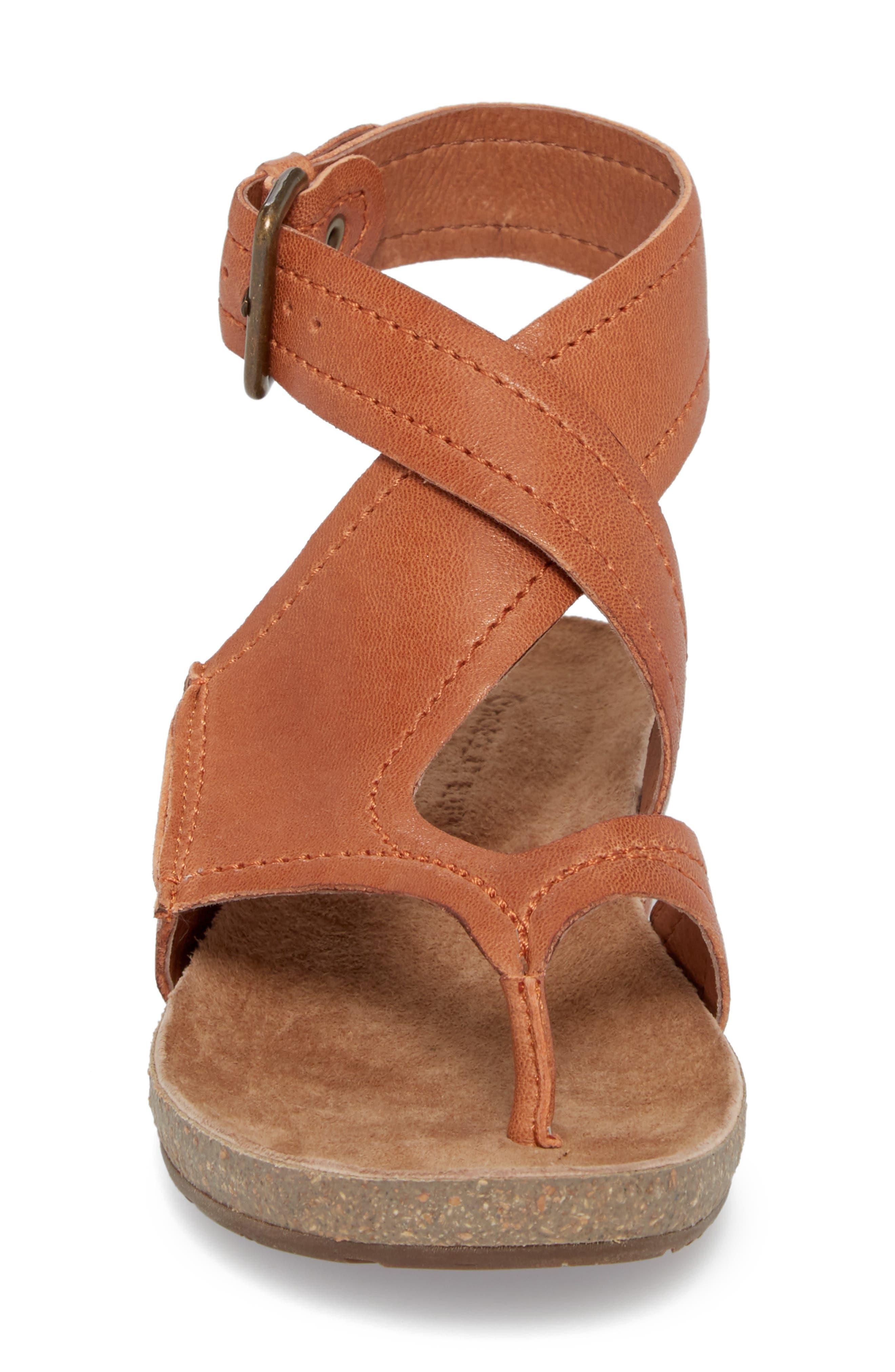 Yagger Sandal,                             Alternate thumbnail 4, color,                             Camel Leather