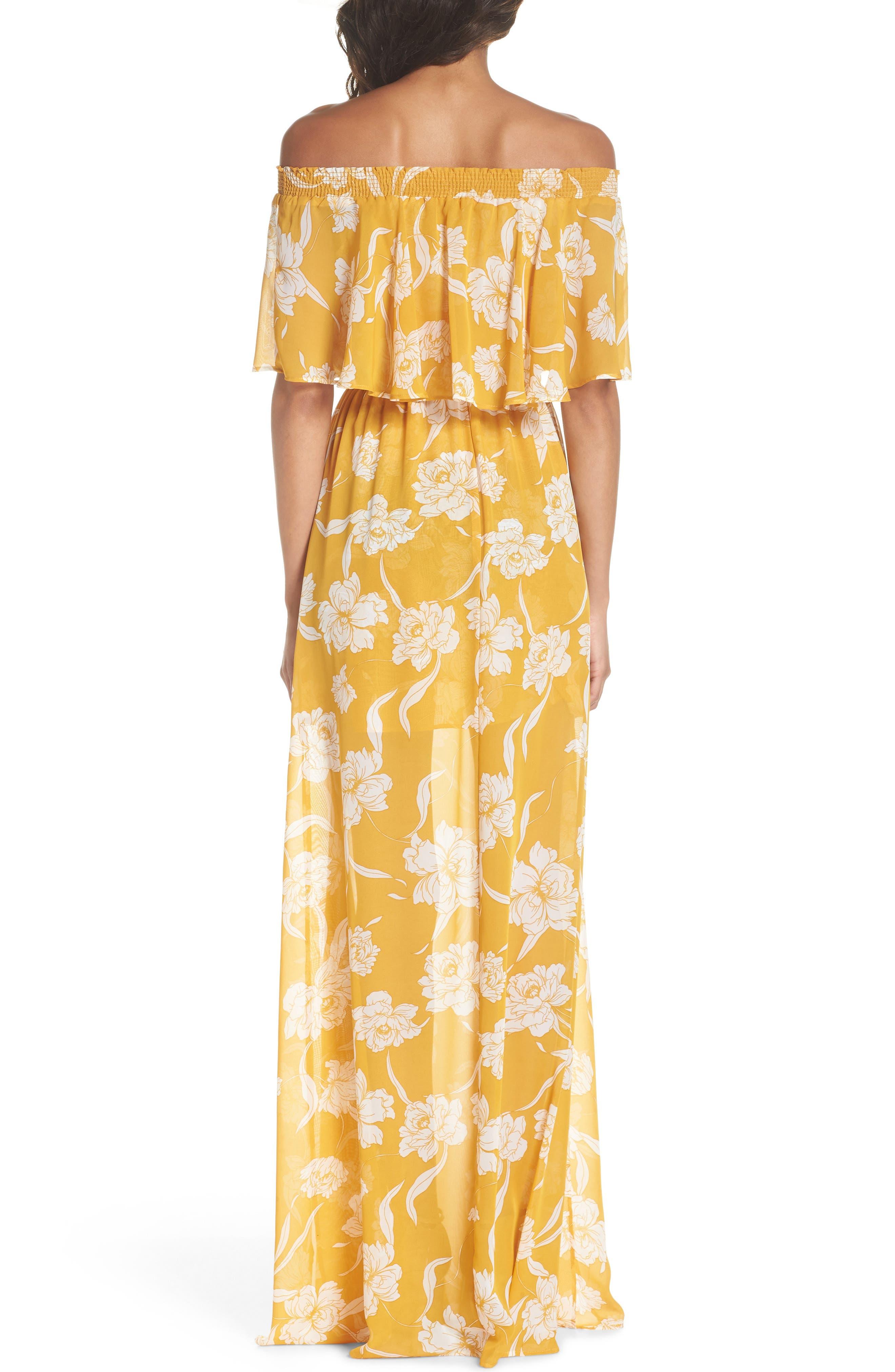 Hacienda Convertible Gown,                             Alternate thumbnail 2, color,                             Bloom Gold