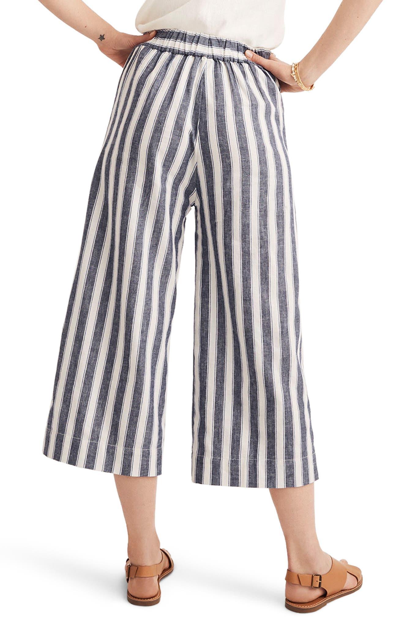 Huston Stripe Crop Pants,                             Alternate thumbnail 2, color,                             Transatlantic Blue