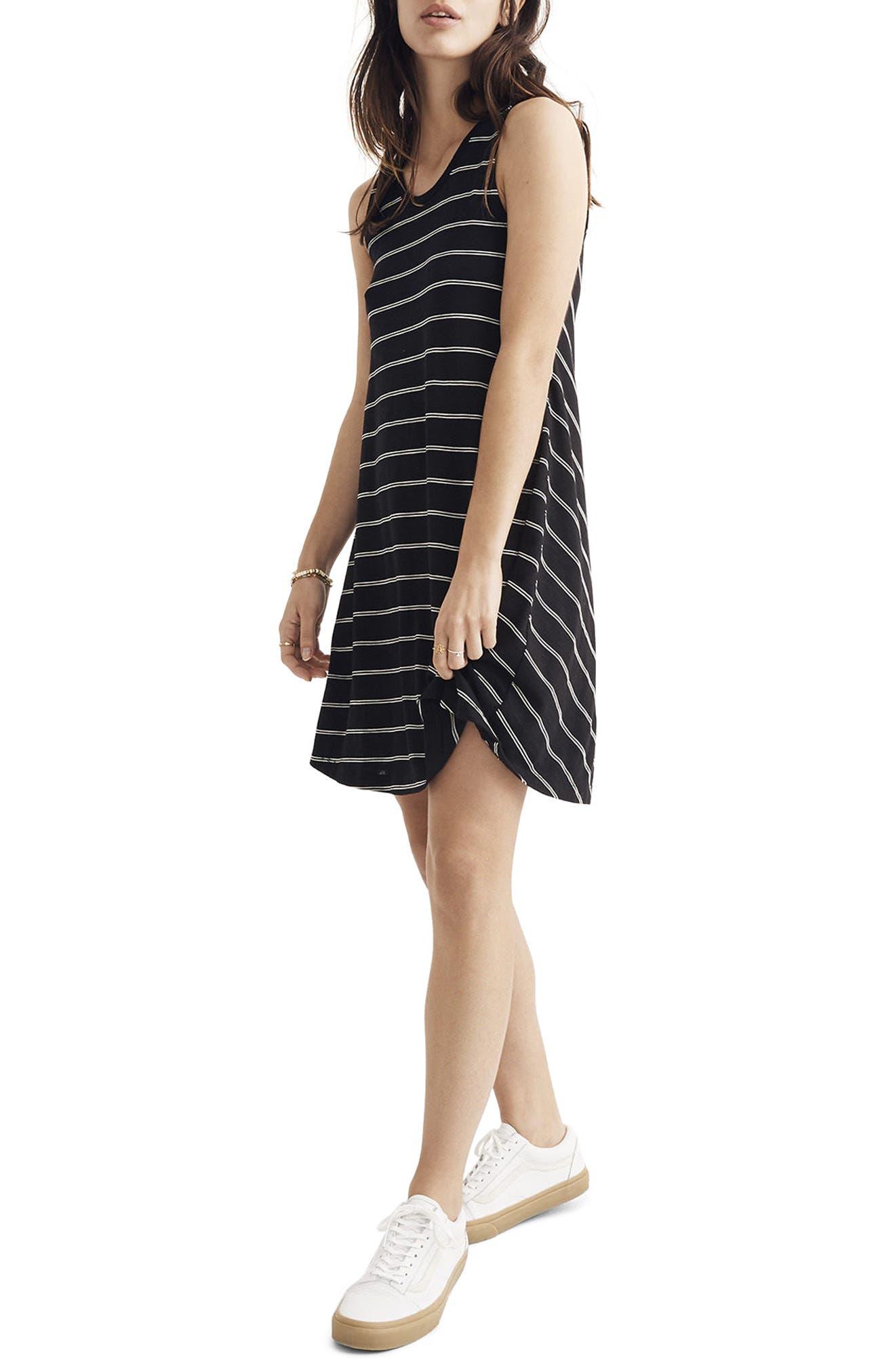 Highpoint Stripe Tank Dress,                             Main thumbnail 1, color,                             True Black