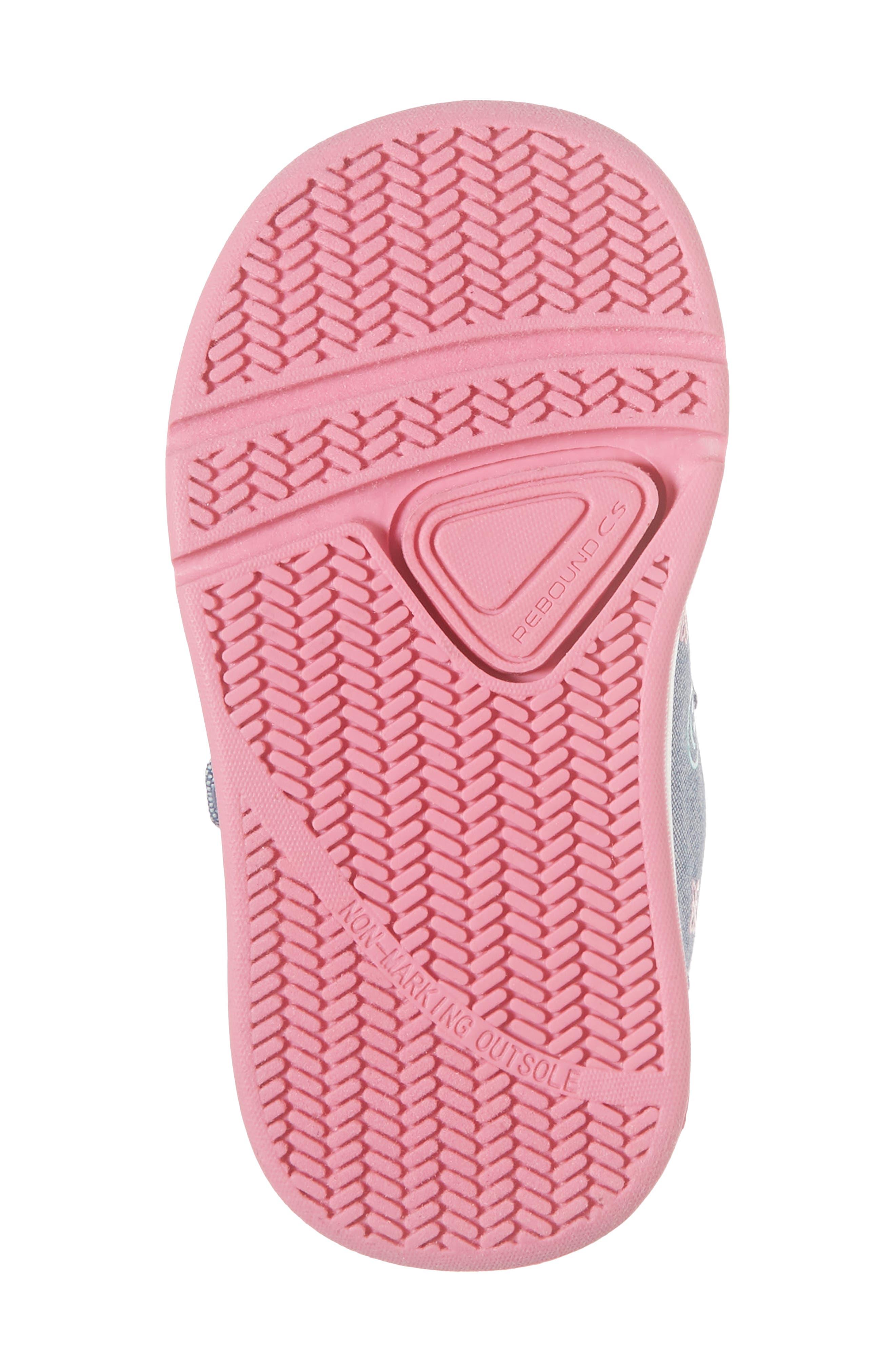 Kate Print Sneaker,                             Alternate thumbnail 6, color,                             Blue Denim Printed Fabric