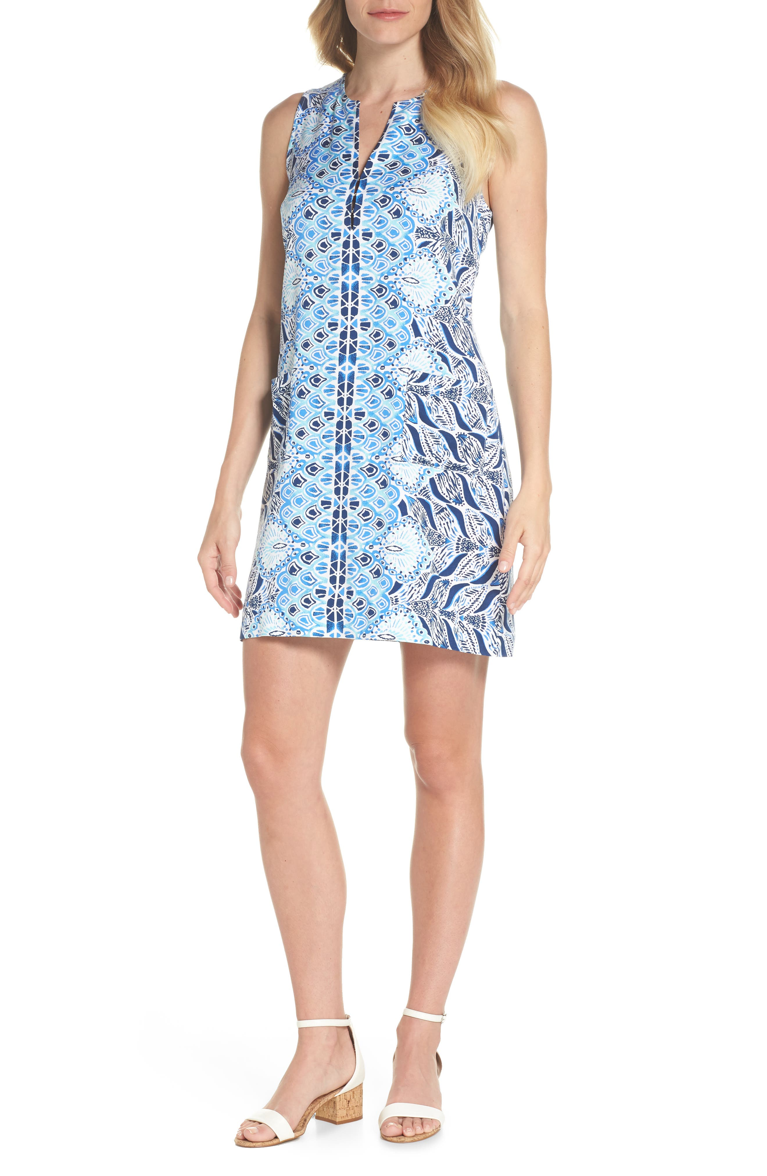Kelby Shift Dress,                         Main,                         color, Resort White A Mermaids Tail