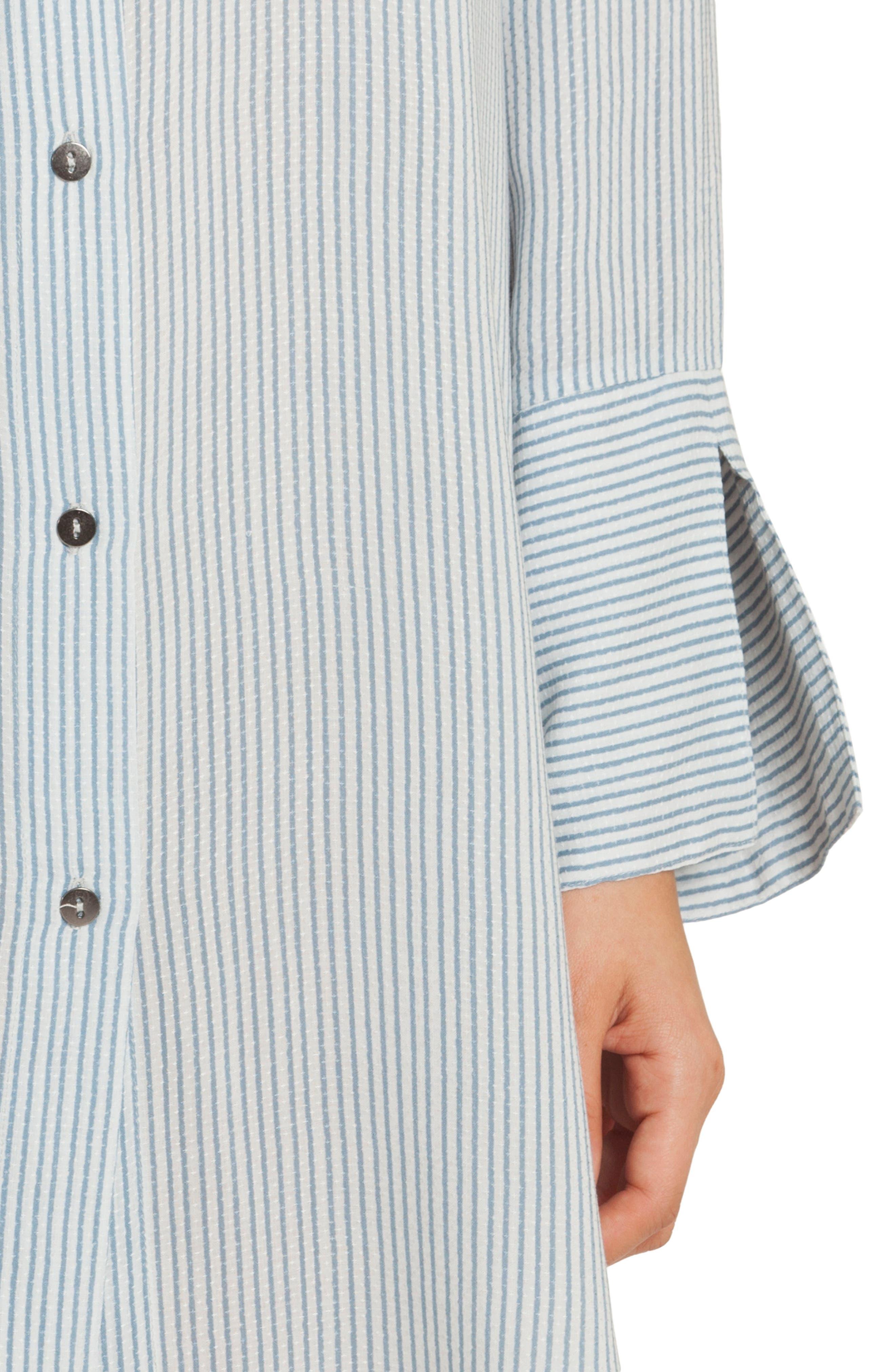 Sleep Shirt,                             Alternate thumbnail 5, color,                             Denim Stripe