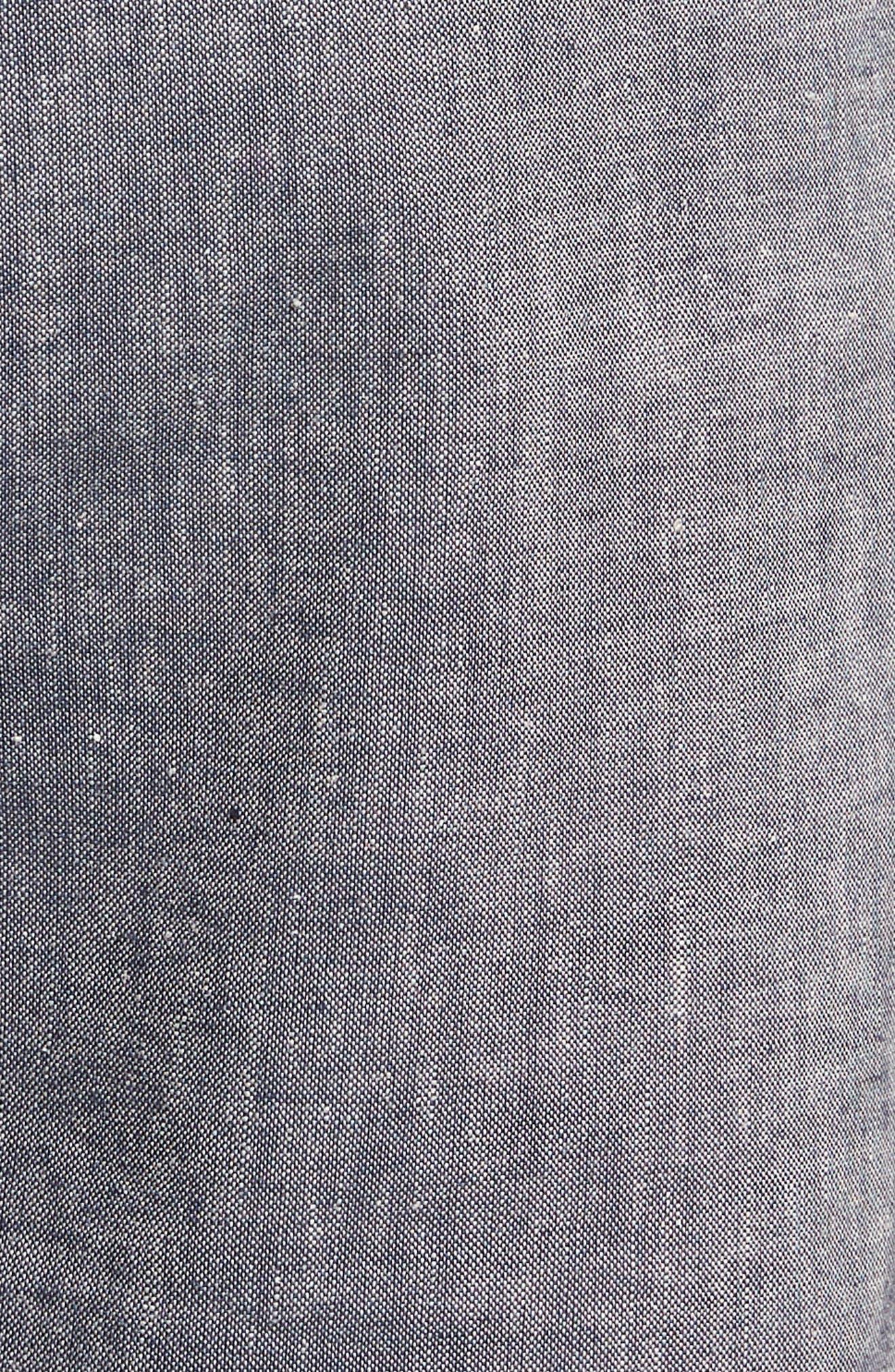 Novelty Chino Shorts,                             Alternate thumbnail 5, color,                             Grey Chambray