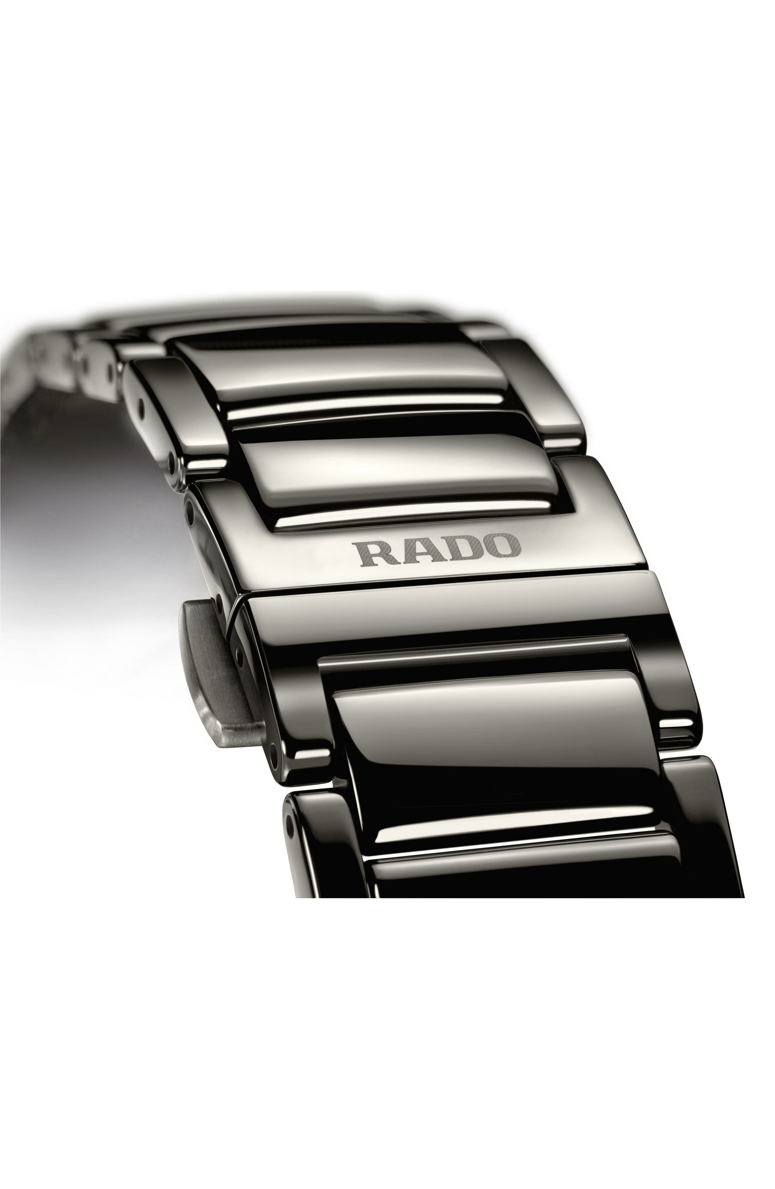 True Thinline Ceramic Bracelet Watch, 39mm,                             Alternate thumbnail 4, color,                             Plasma/ Blue/ Plasma