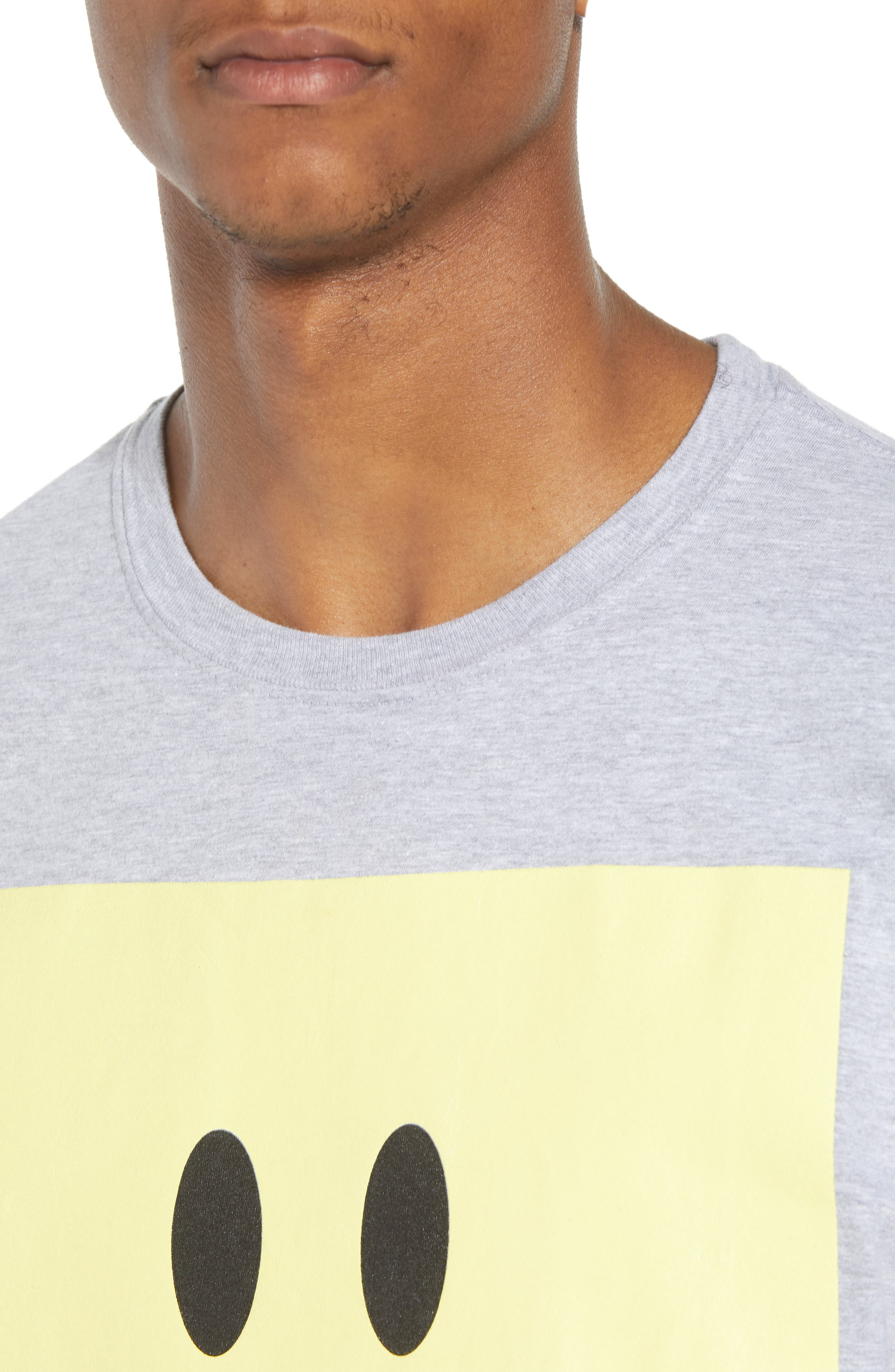 Box Smiley Graphic T-Shirt,                             Alternate thumbnail 4, color,                             Grey Heather Box Smile
