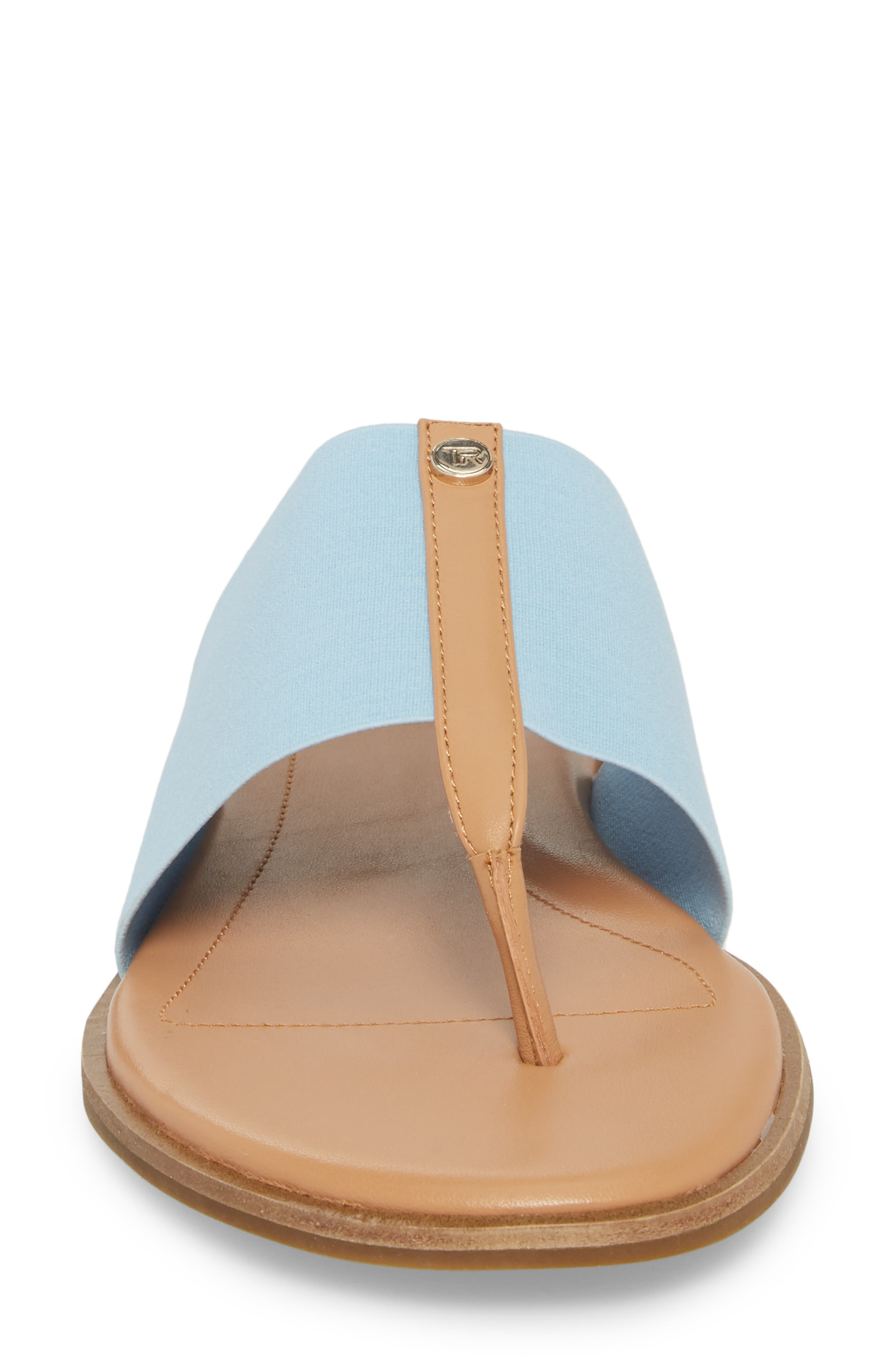 Kamryn Flip Flop,                             Alternate thumbnail 4, color,                             Sky Leather