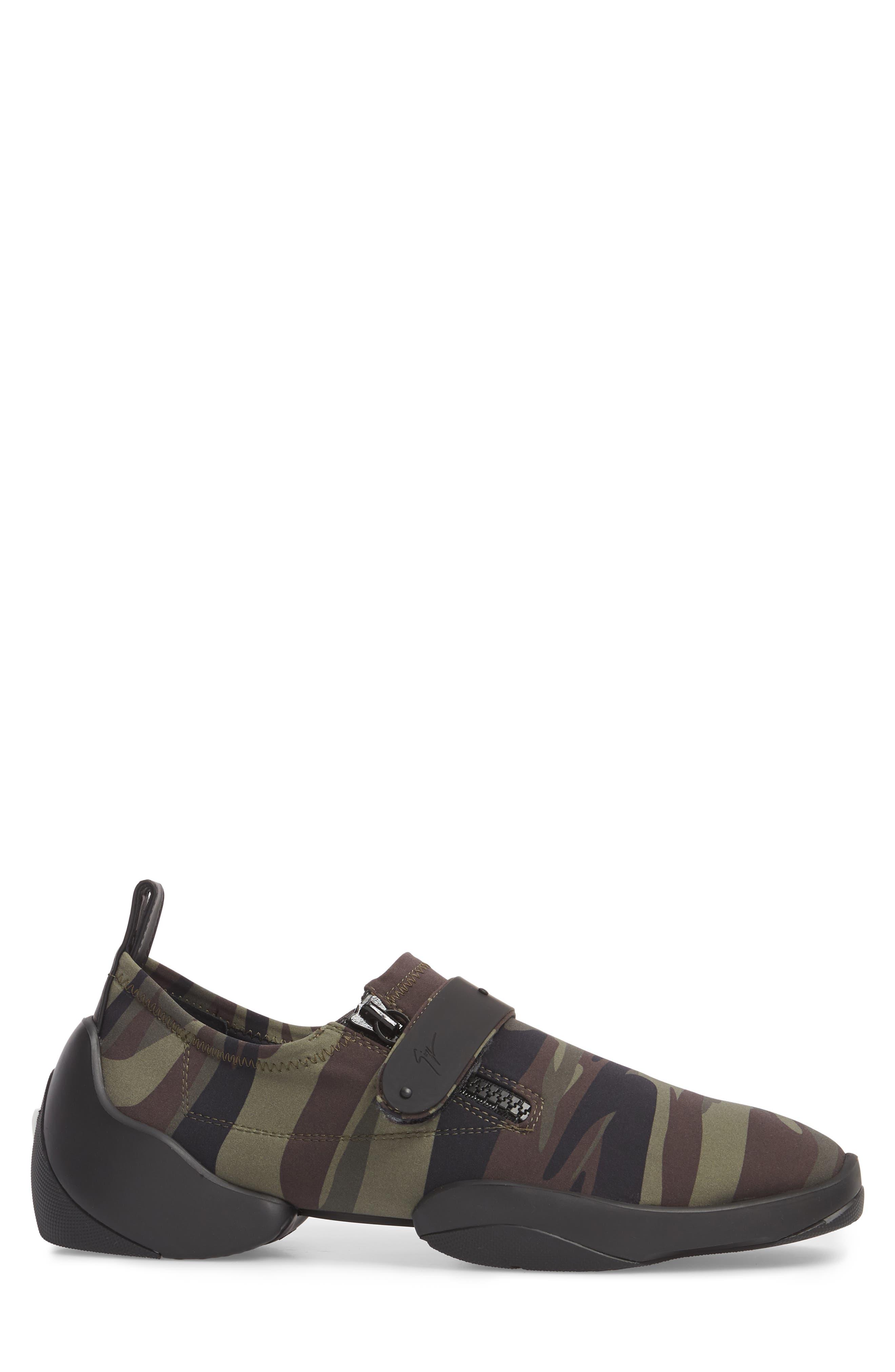 Scuba Strap Sneaker,                             Alternate thumbnail 3, color,                             Military Neoprene