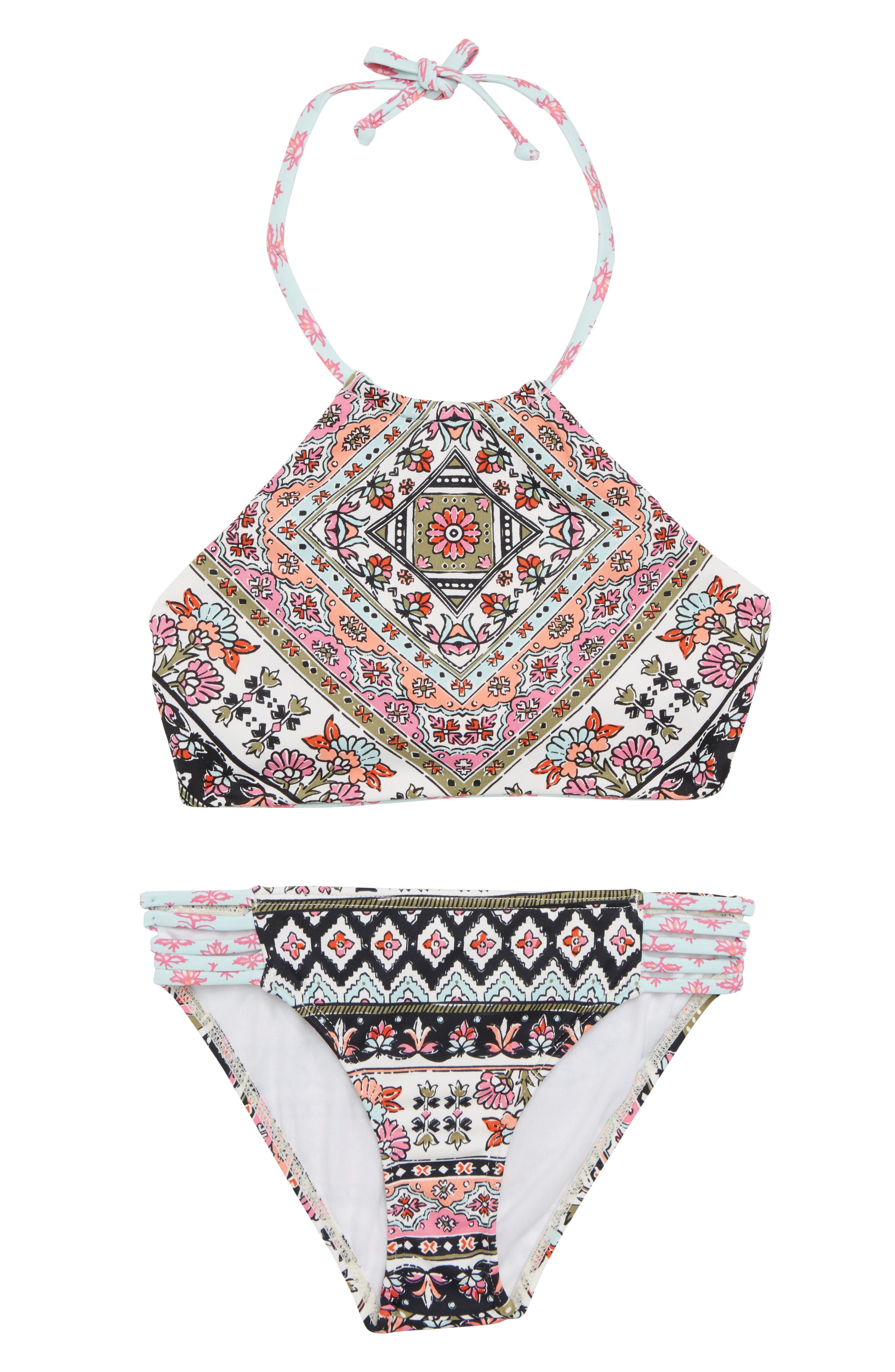 Moon Tribe Two-Piece Halter Swimsuit,                         Main,                         color, Multi