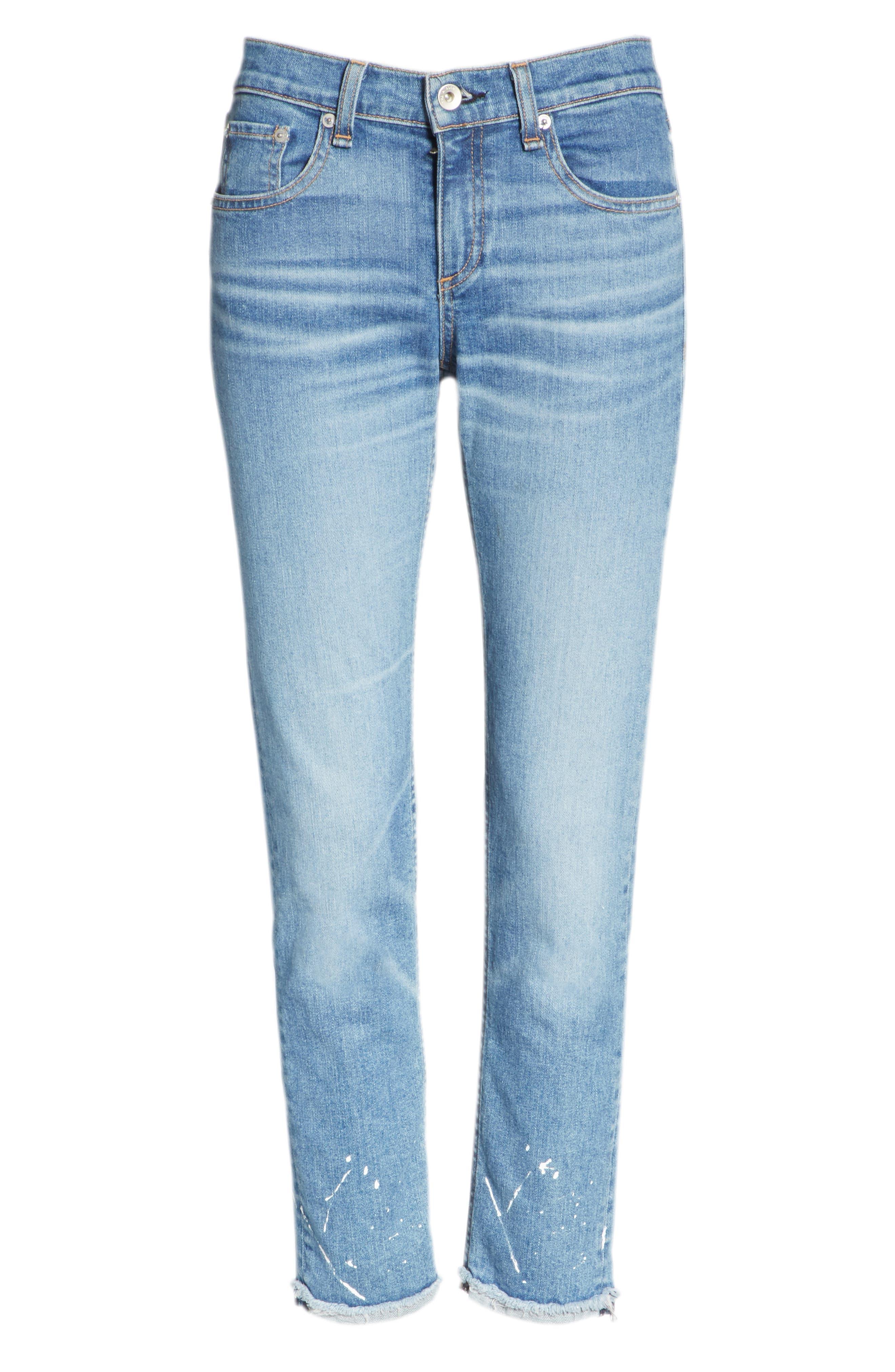 The Dre Ankle Slim Boyfriend Jeans,                             Alternate thumbnail 6, color,                             Bulwarks
