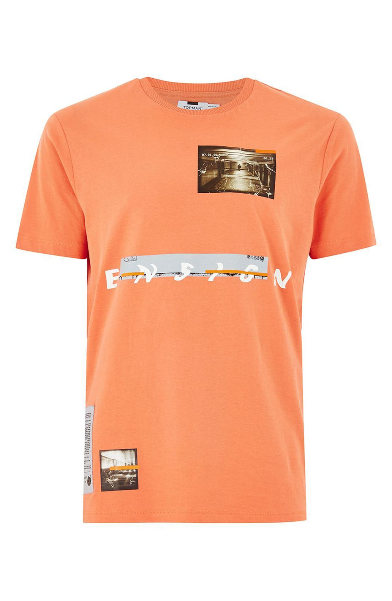 Ensign Graphic T-Shirt,                         Main,                         color, Coral Multi